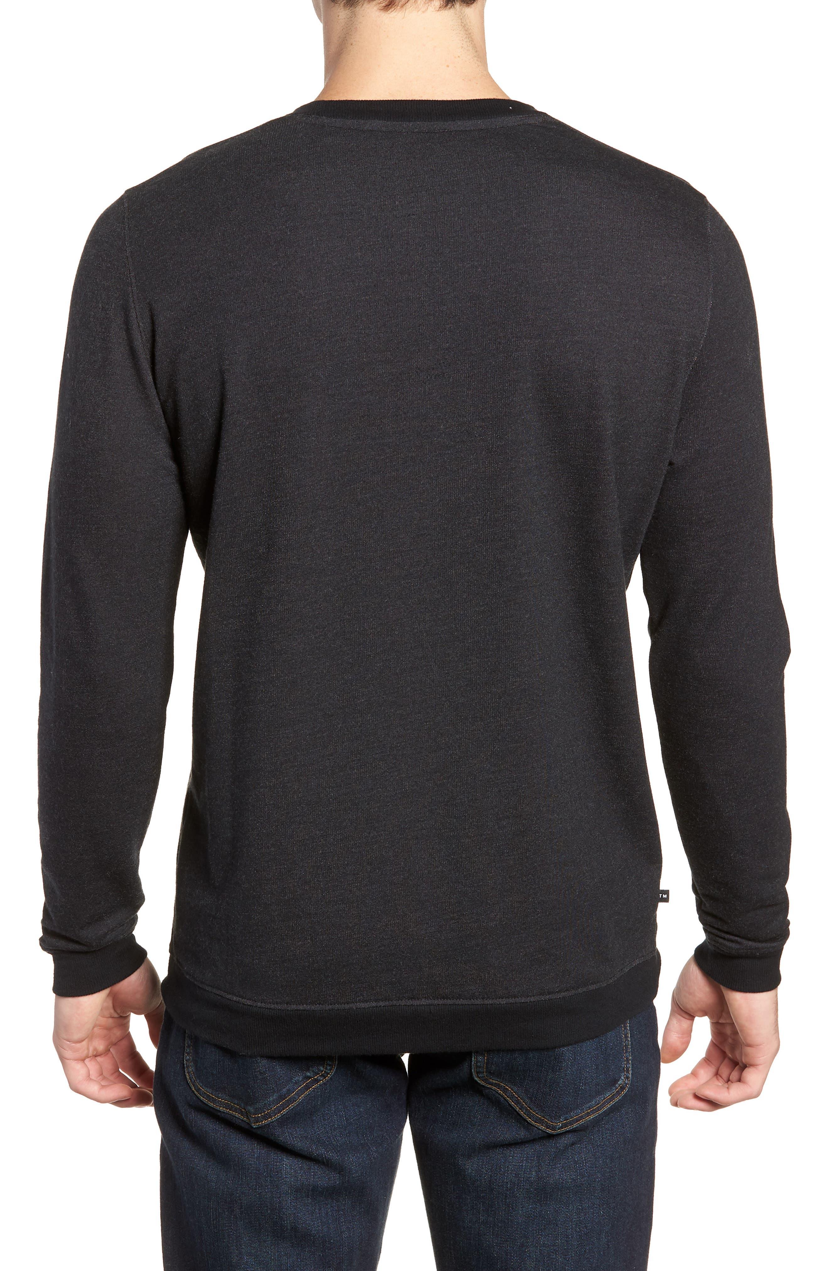 Lanegan Long Sleeve T-Shirt,                             Alternate thumbnail 2, color,                             BLACK/ WINETASTING