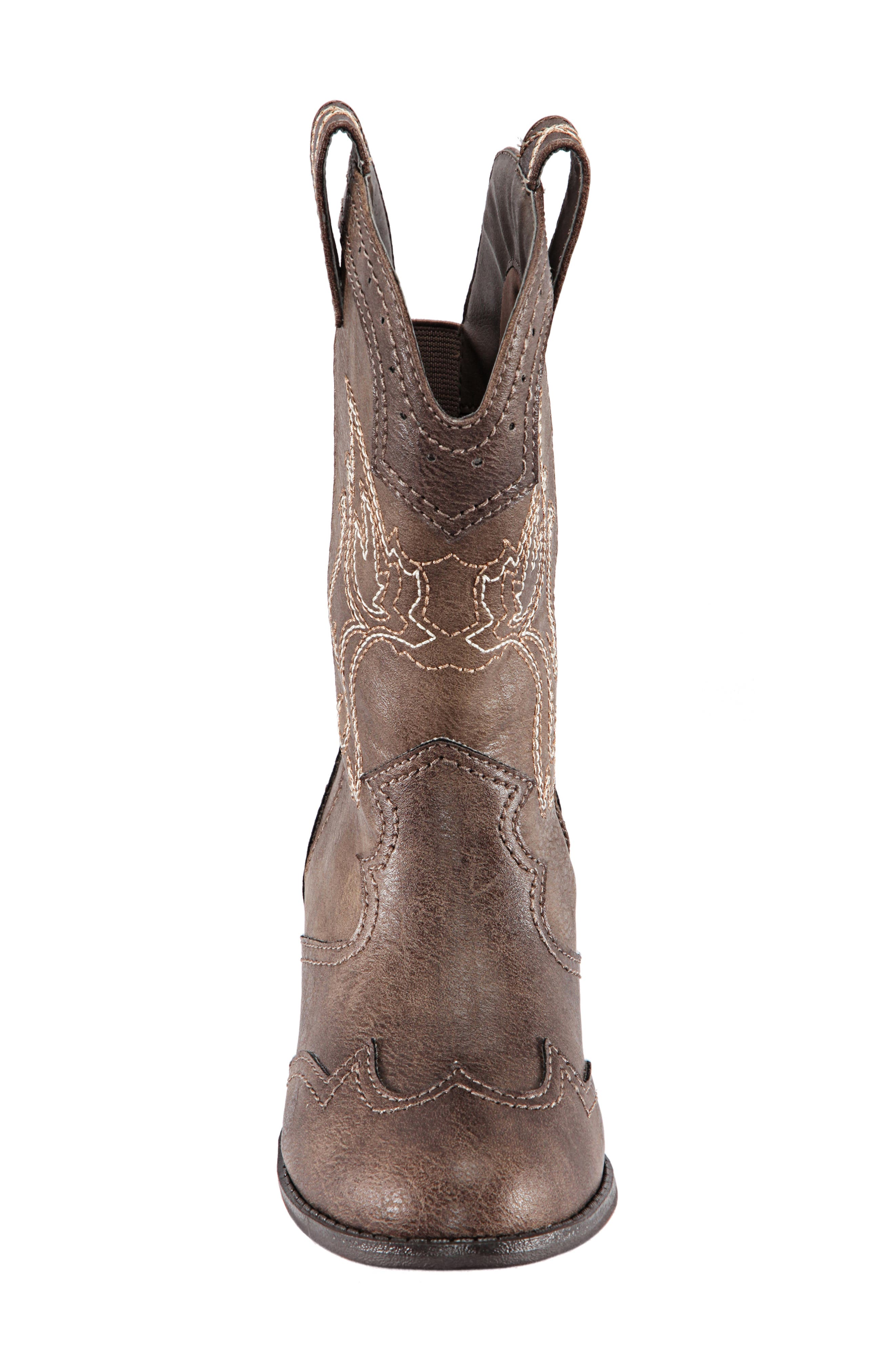 Beti Western Boot,                             Alternate thumbnail 4, color,                             BROWN DISTRESSED