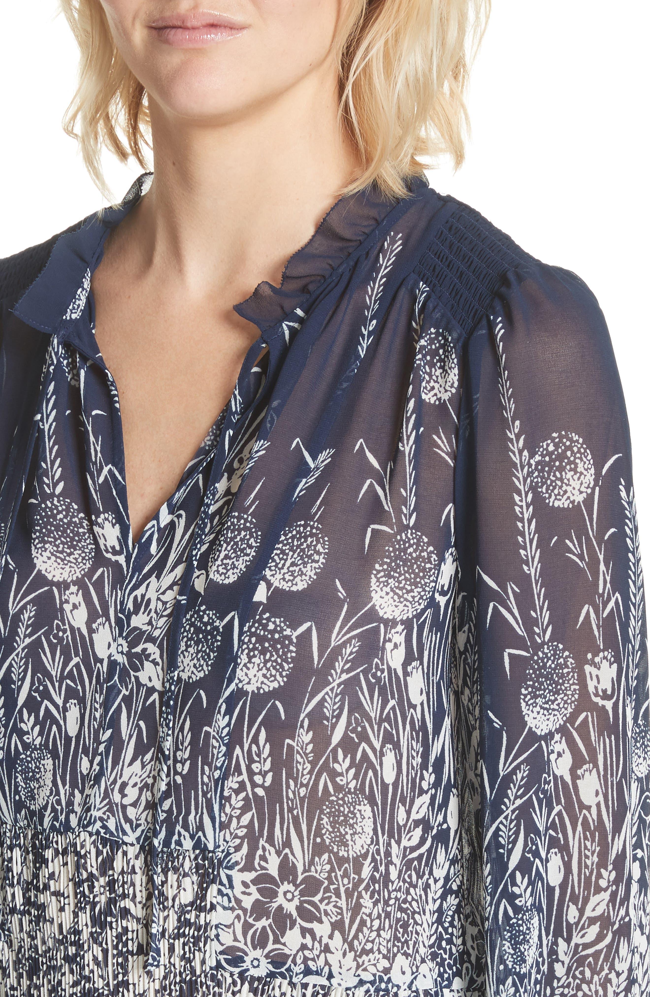 Rita Floral Top,                             Alternate thumbnail 4, color,