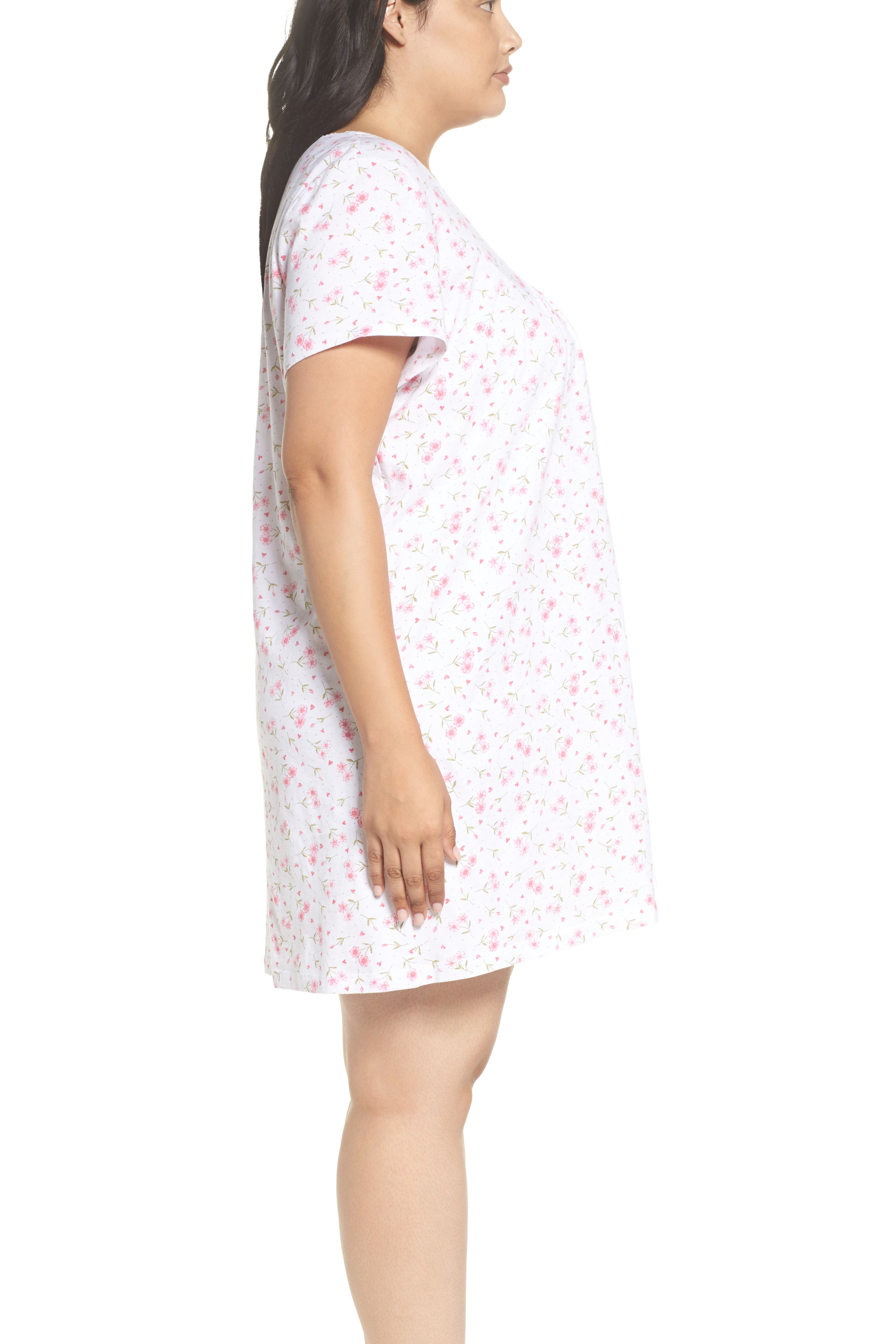 Cotton Jersey Long Nightgown,                             Alternate thumbnail 3, color,