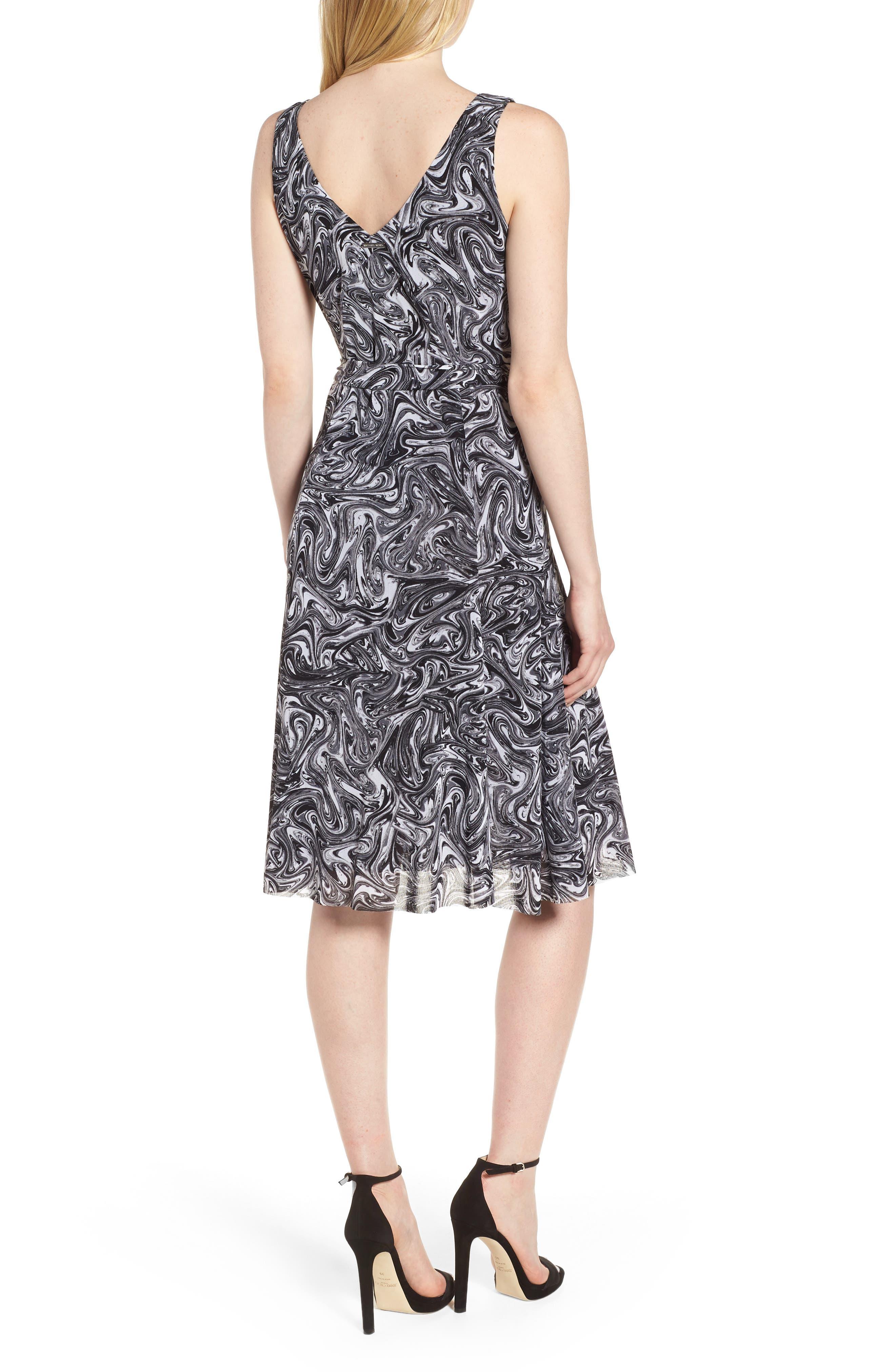 Watermark Swirl Flare Tank Dress,                             Alternate thumbnail 2, color,                             001