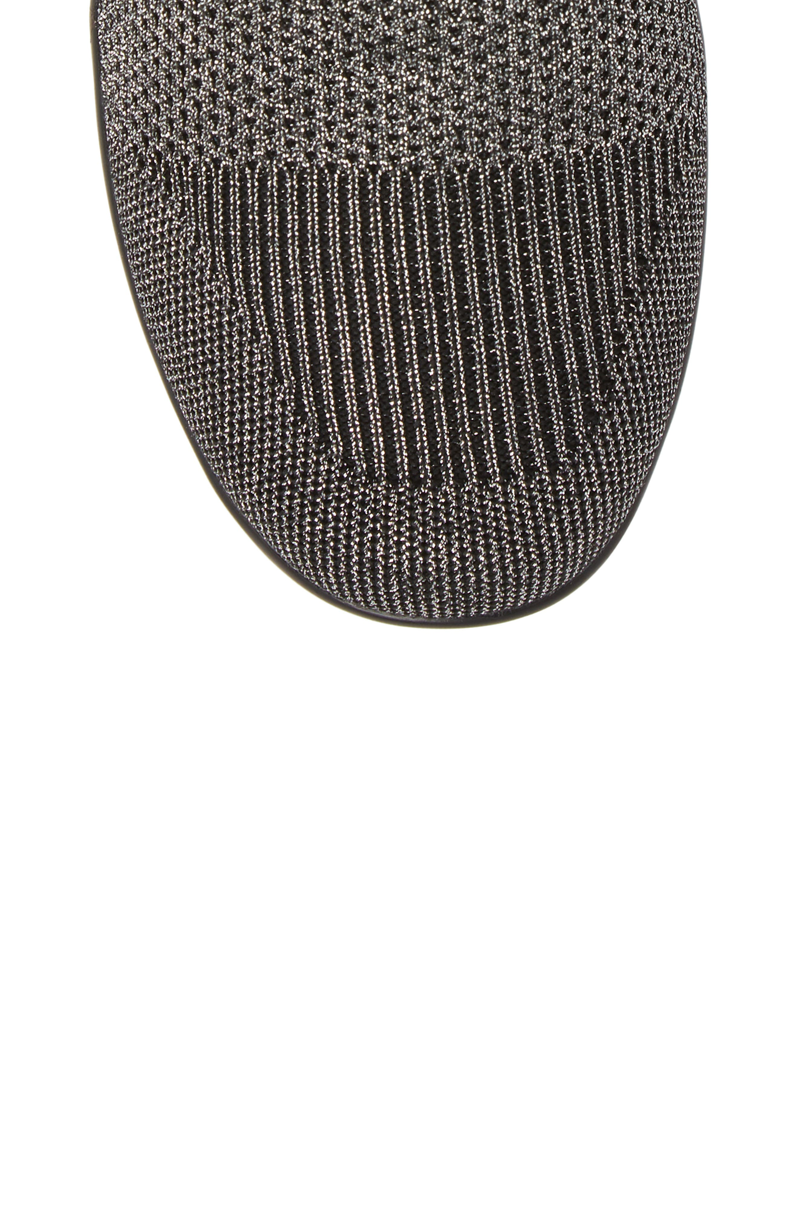 Camryn Knit Bootie,                             Alternate thumbnail 5, color,                             GUNMETAL FABRIC