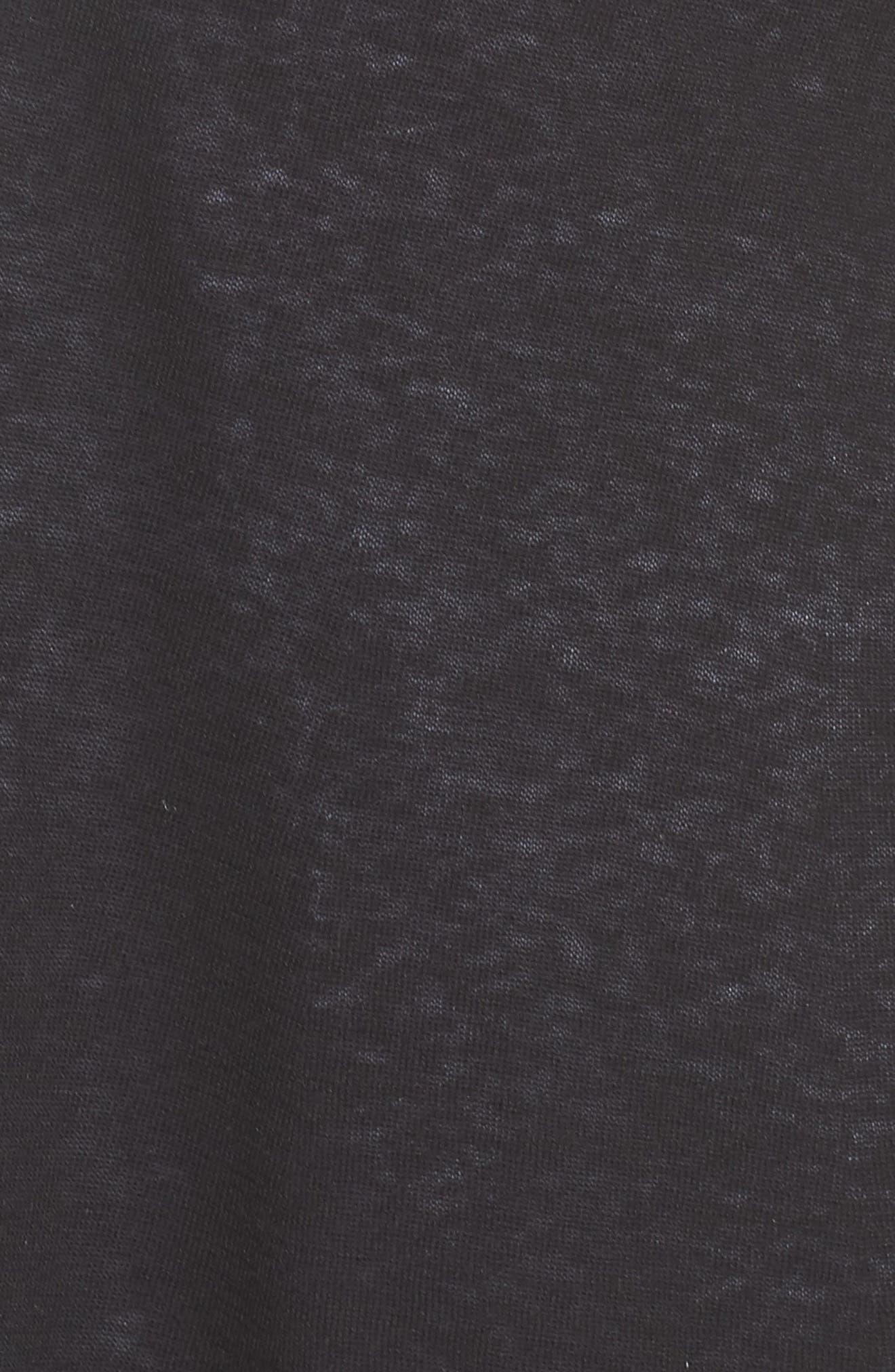 Silk & Organic Linen Long Cardigan,                             Alternate thumbnail 5, color,                             001
