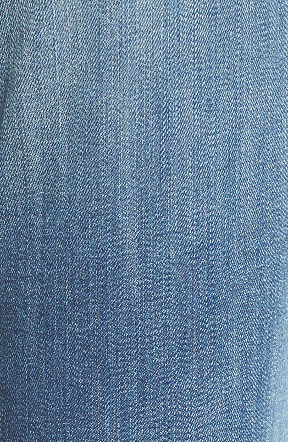 'Sadey' Slim Straight Crop Jeans,                             Alternate thumbnail 5, color,