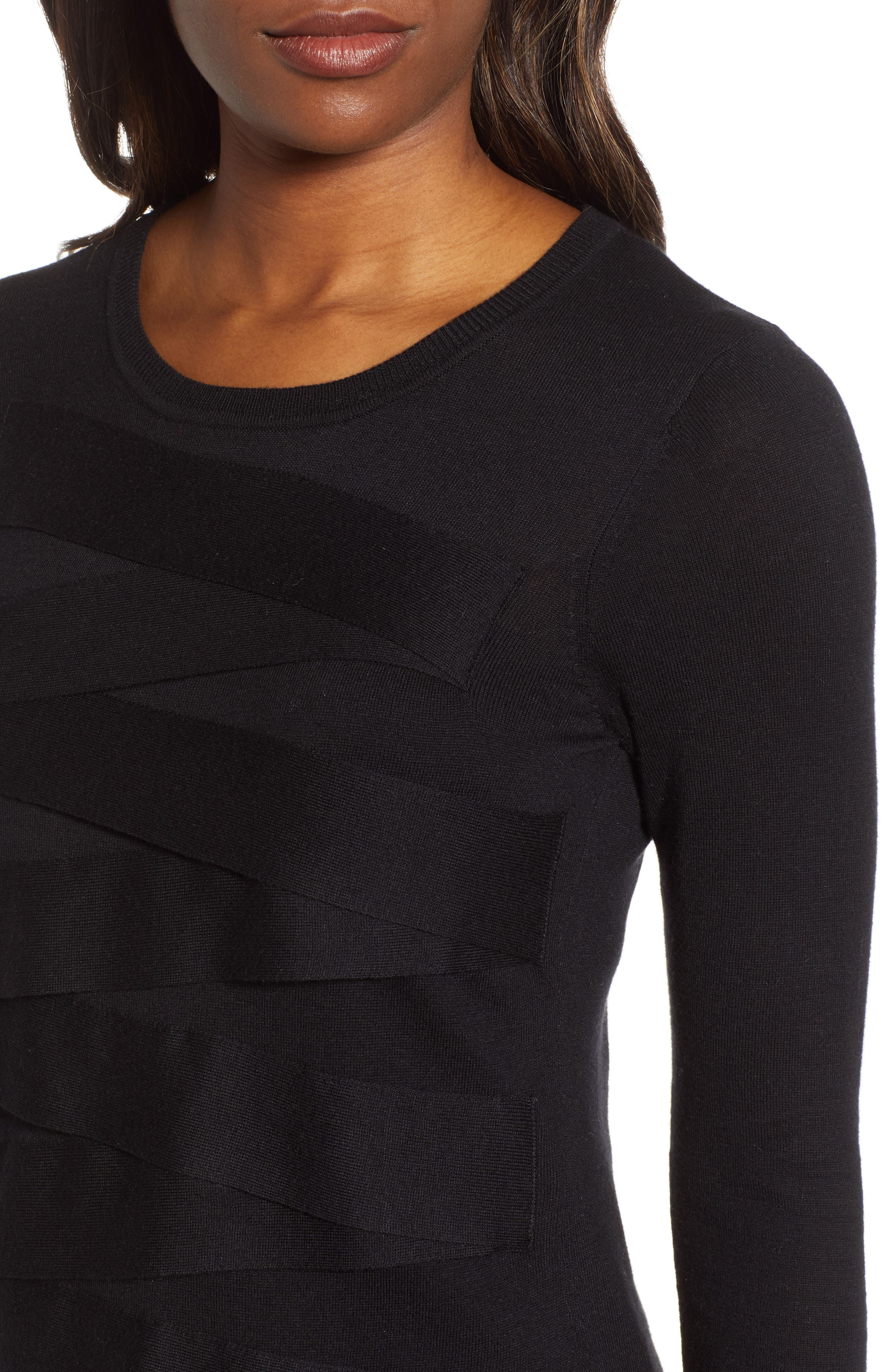 Zigzag Sweater,                             Alternate thumbnail 5, color,                             001