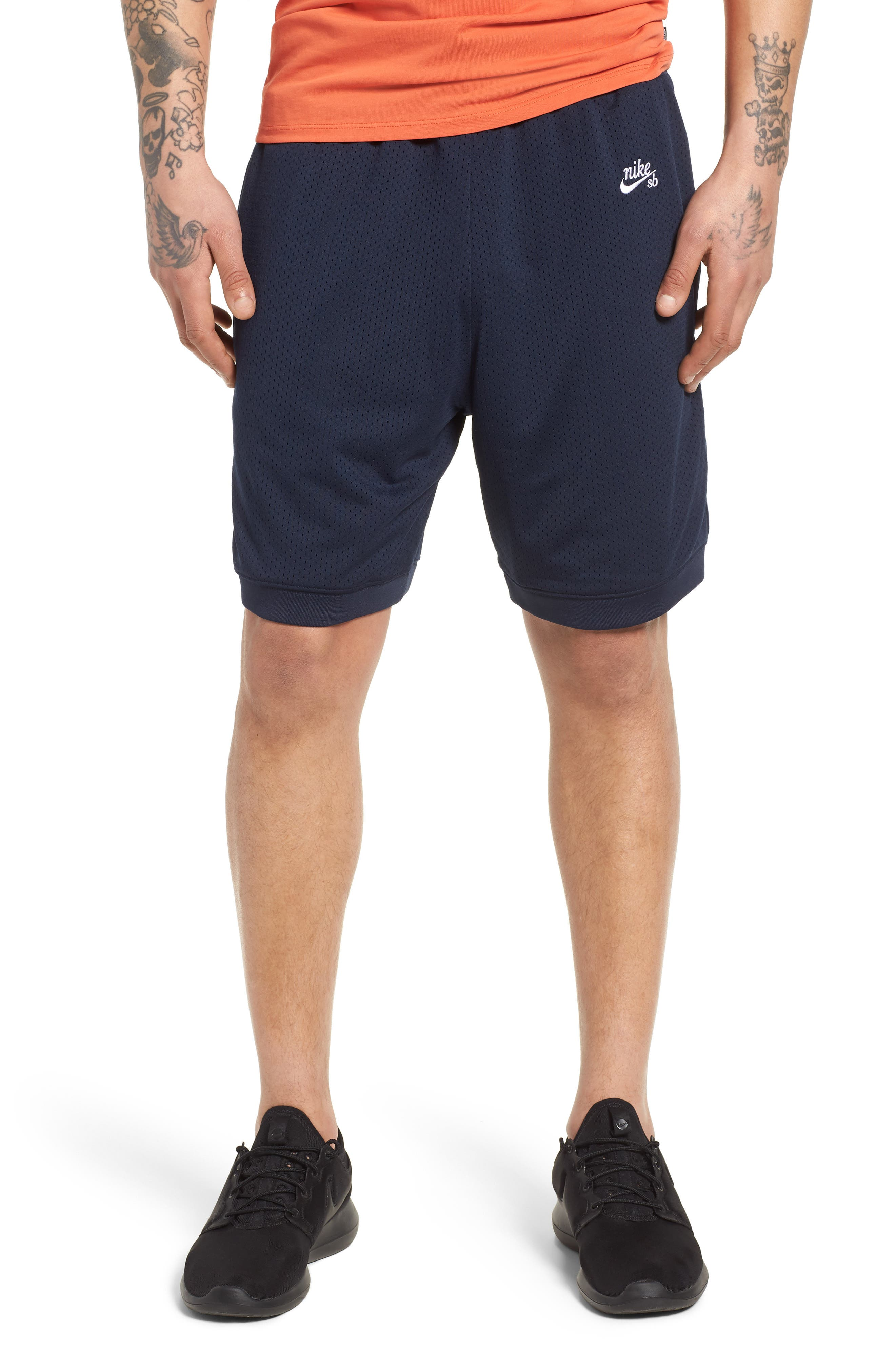 SB Dry Heritage Court Shorts,                             Main thumbnail 1, color,                             OBSIDIAN/ WHITE
