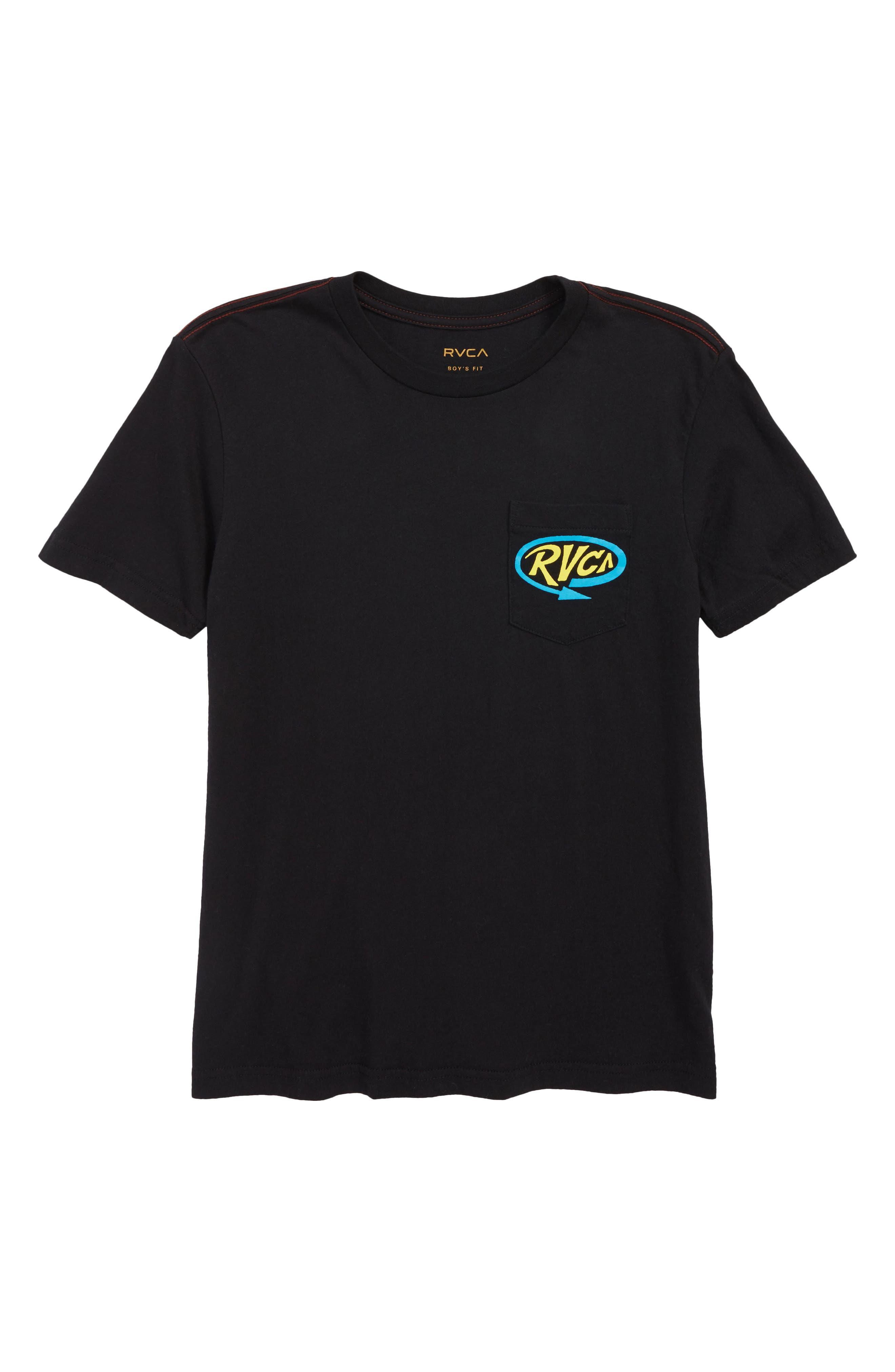 Looped T-Shirt,                         Main,                         color, BLACK