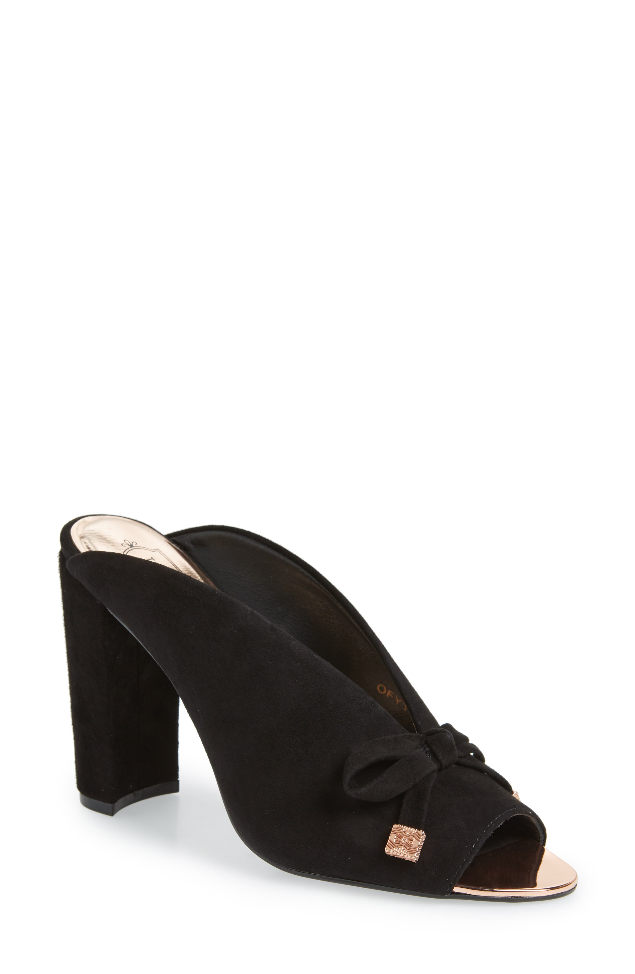 Marinax Slide,                         Main,                         color, BLACK SUEDE