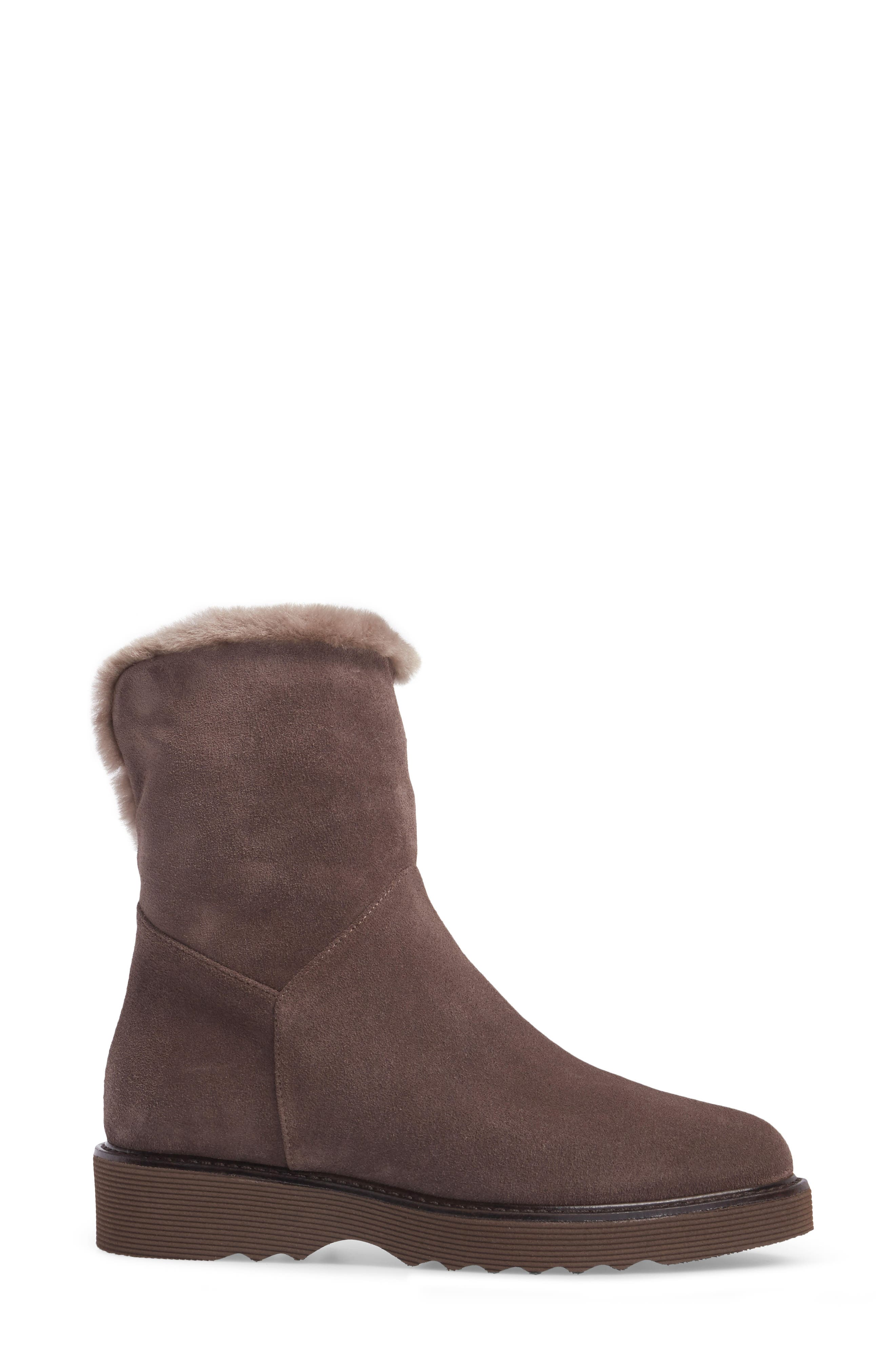Kimberly Weatherproof Genuine Shearling Bootie,                             Alternate thumbnail 11, color,