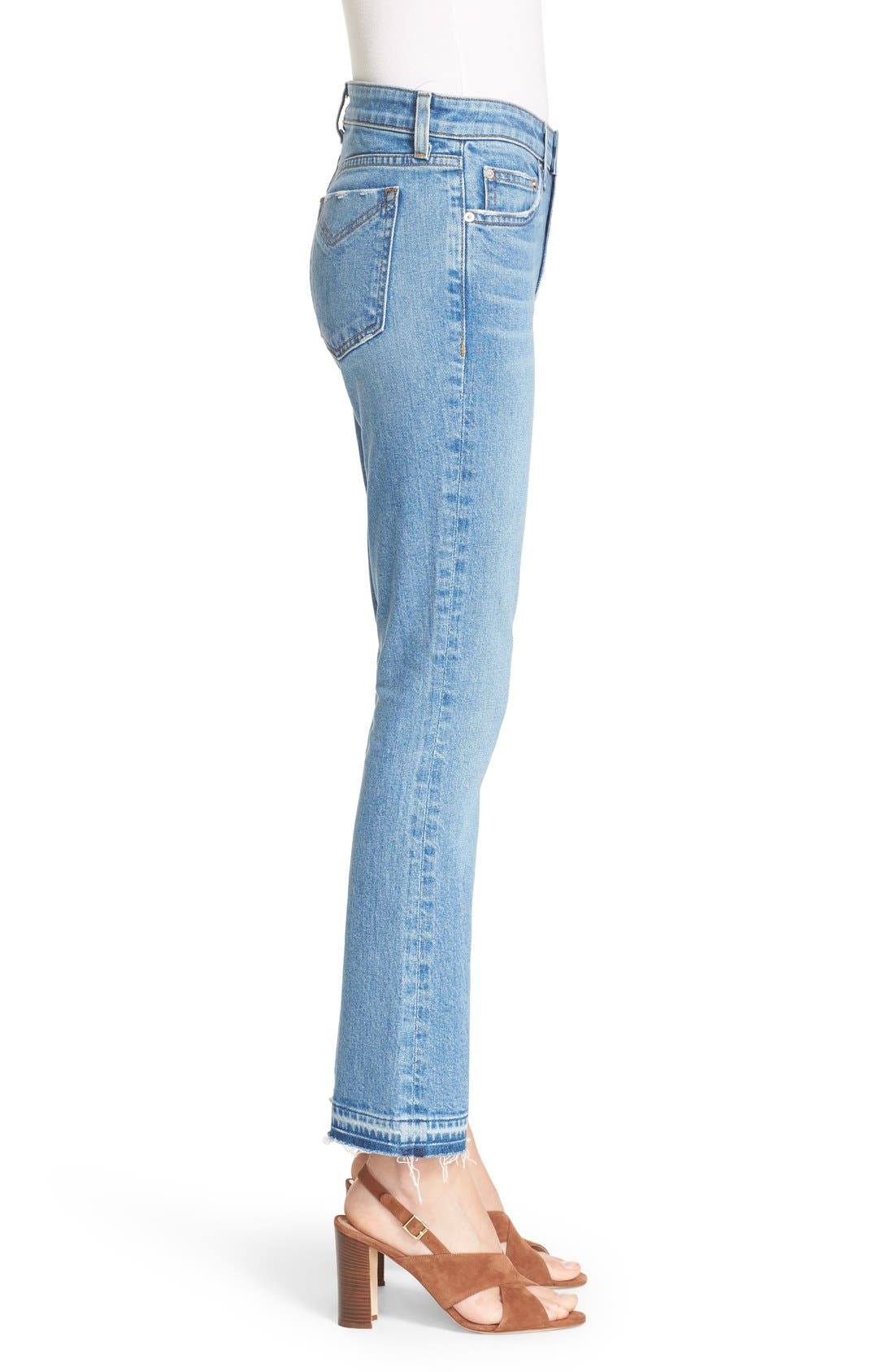 'Gia' Crop Flare Jeans,                             Alternate thumbnail 4, color,                             458