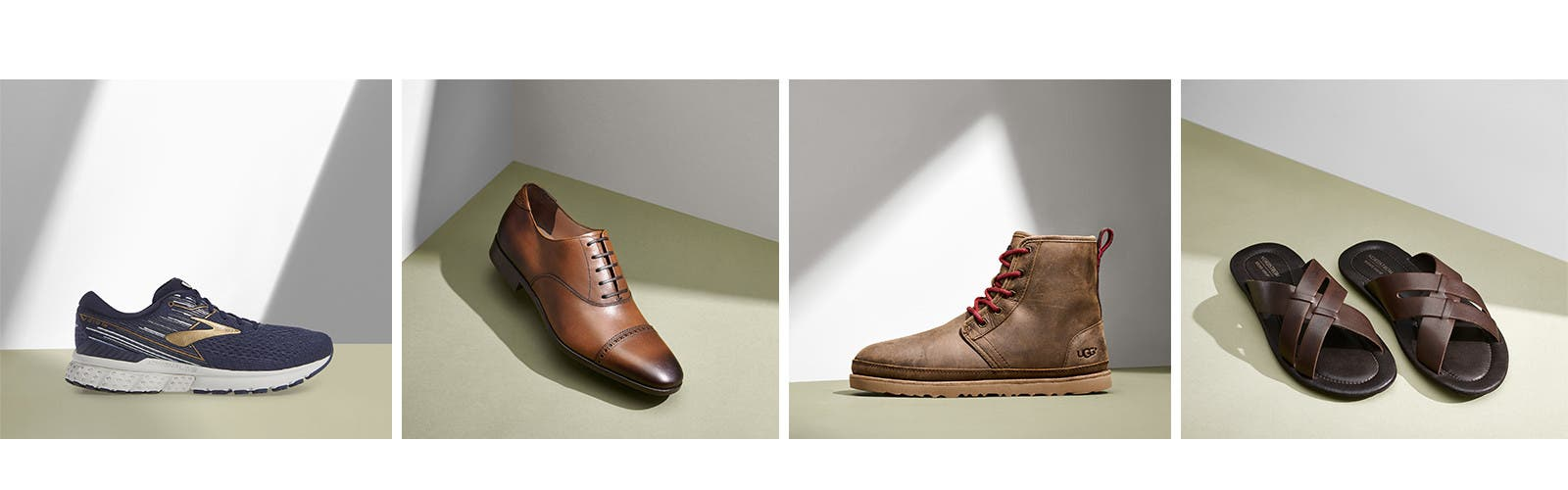 Essential men's shoes for the season.