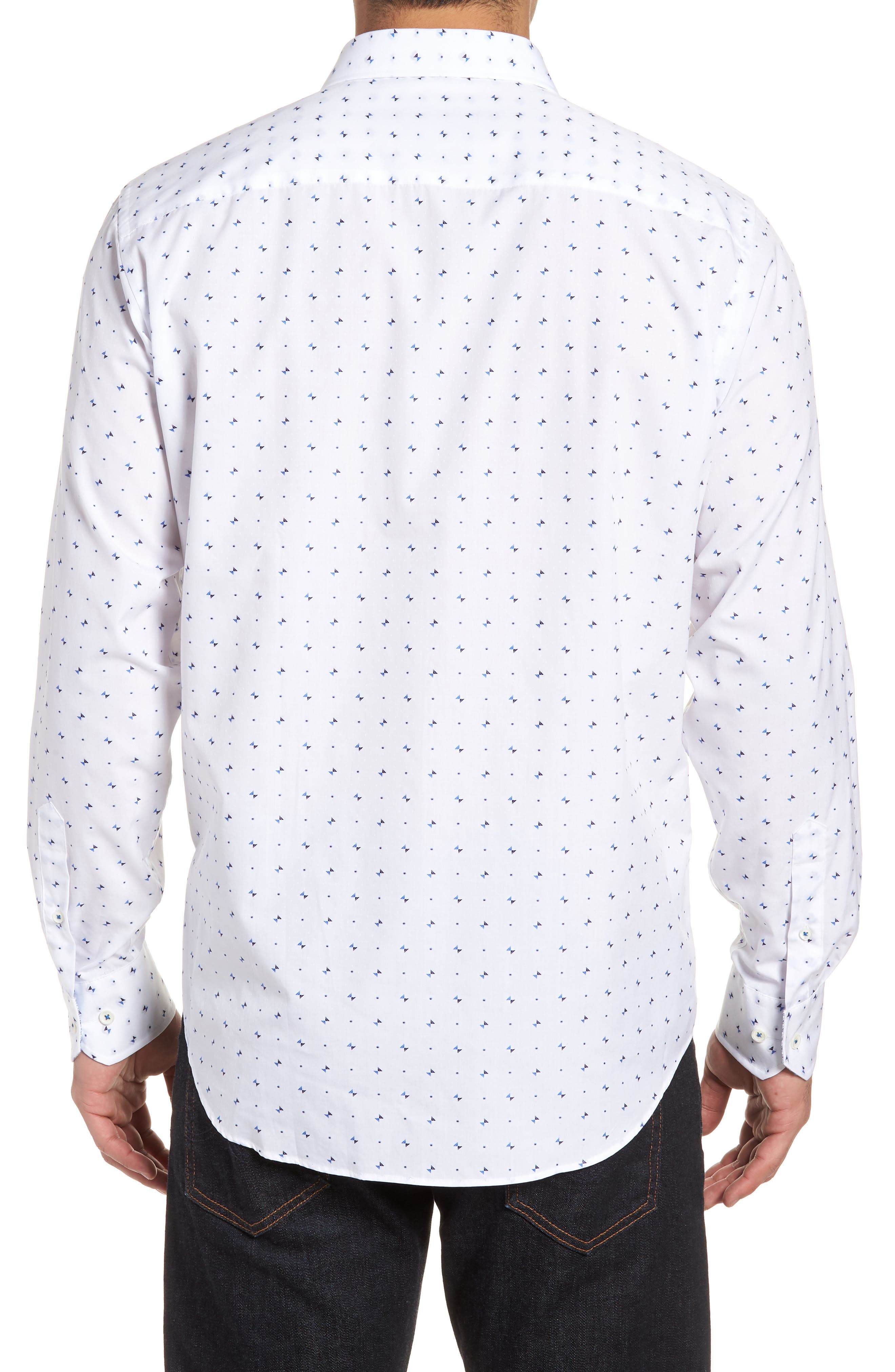 Classic Fit Woven Sport Shirt,                             Alternate thumbnail 2, color,                             100