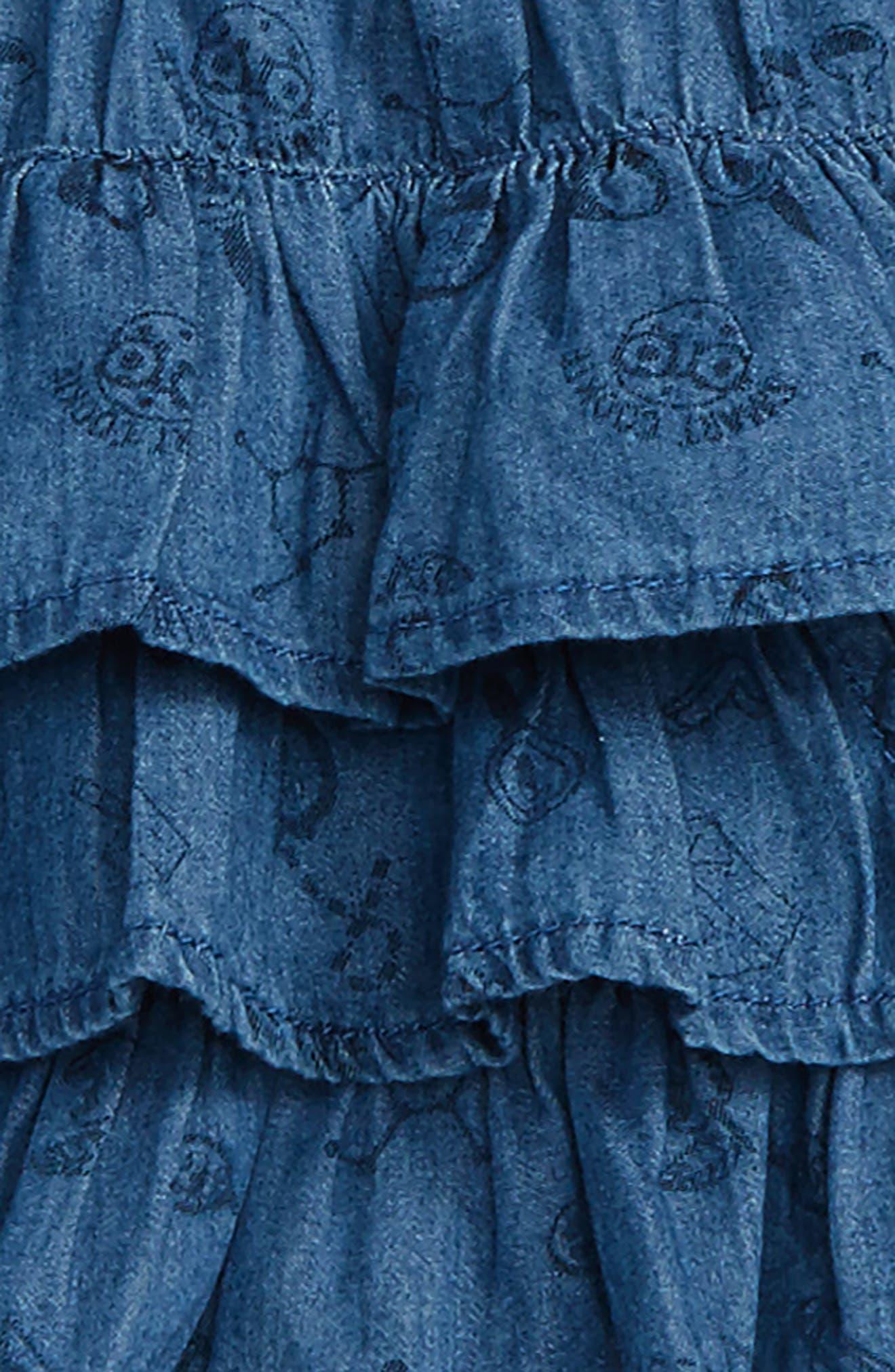 Ruffle Chambray Dress,                             Alternate thumbnail 2, color,                             421