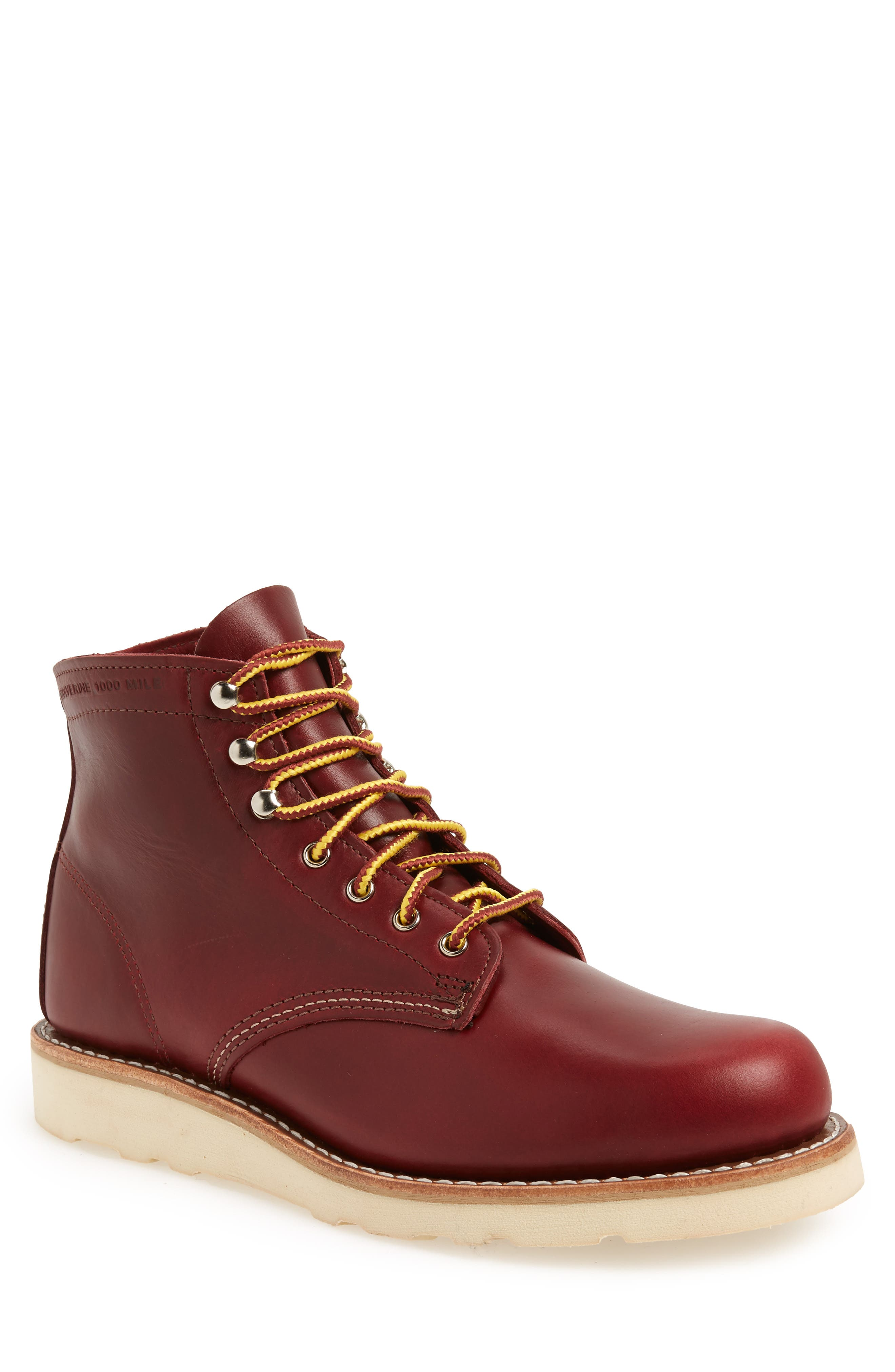 1000 Mile Wedge Boot,                         Main,                         color, RED