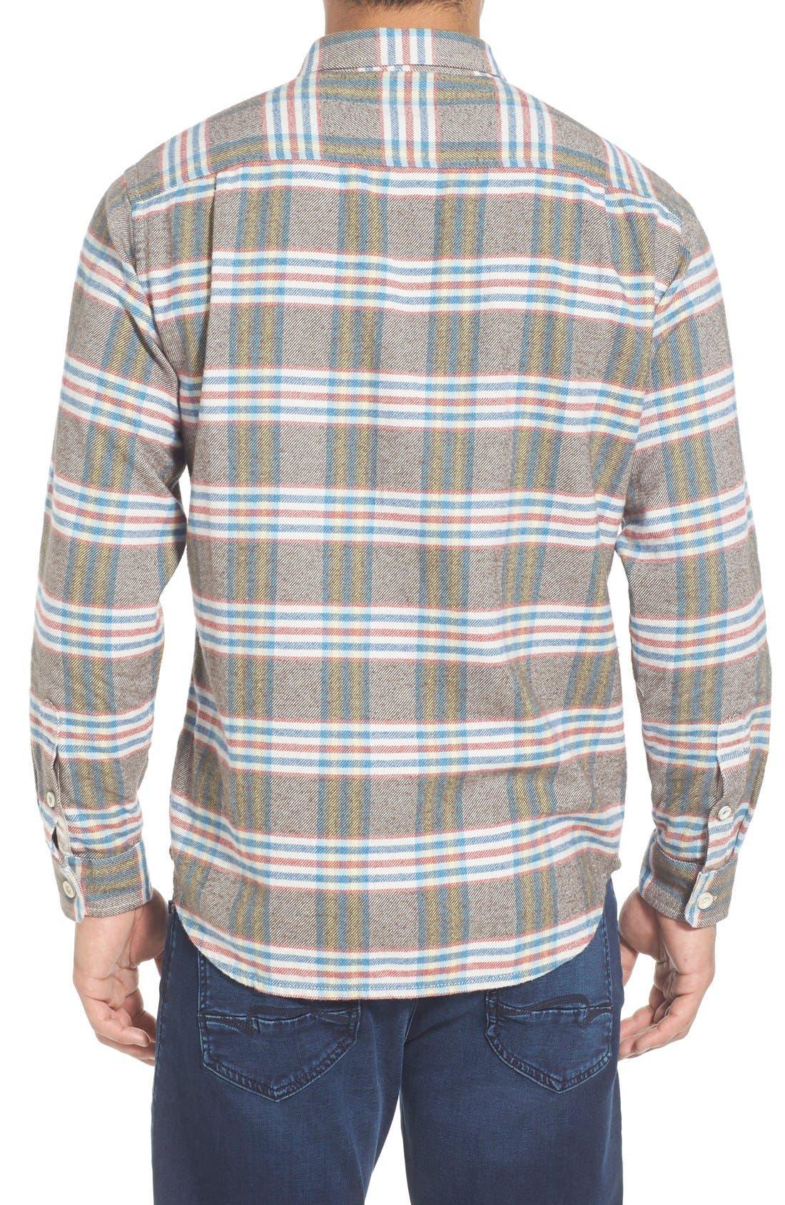 'Flannel Time' Original FitPlaid Flannel Shirt,                             Alternate thumbnail 4, color,                             200