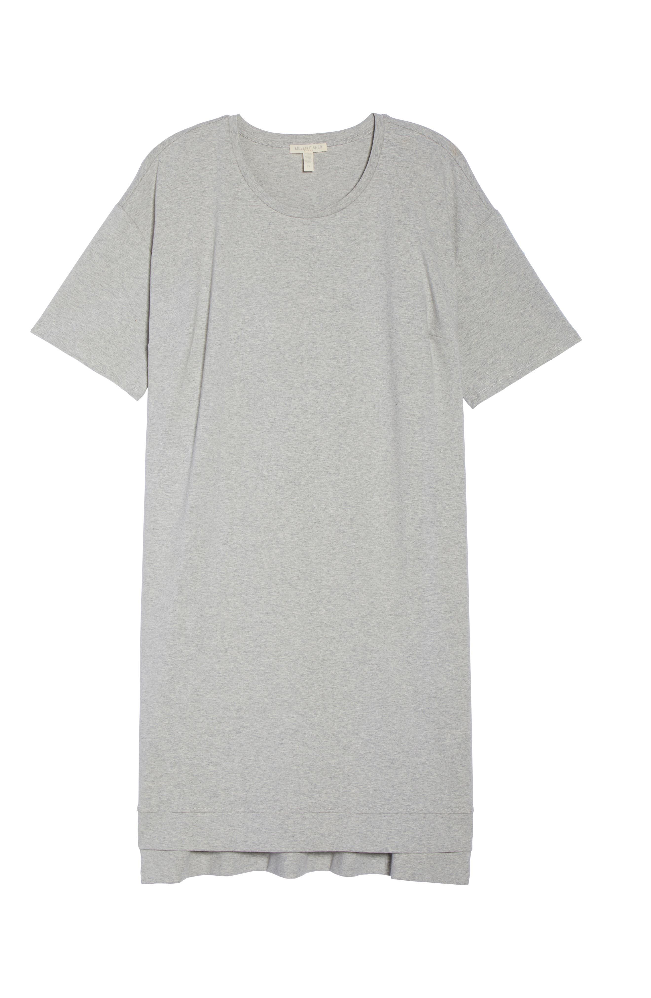 Organic Stretch Cotton Shift Dress,                             Alternate thumbnail 6, color,                             020