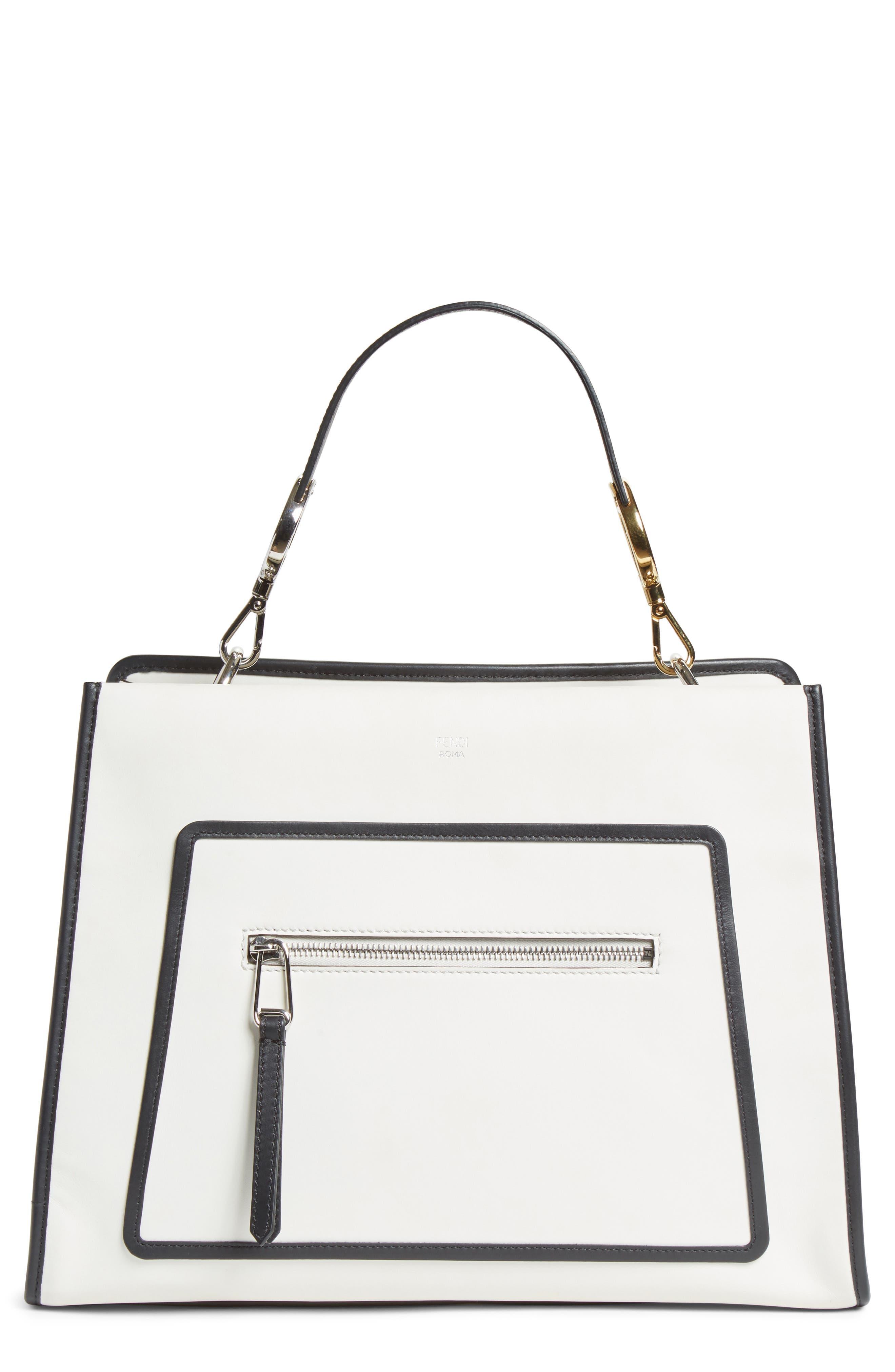 Runaway Medium Leather Tote Bag,                         Main,                         color,