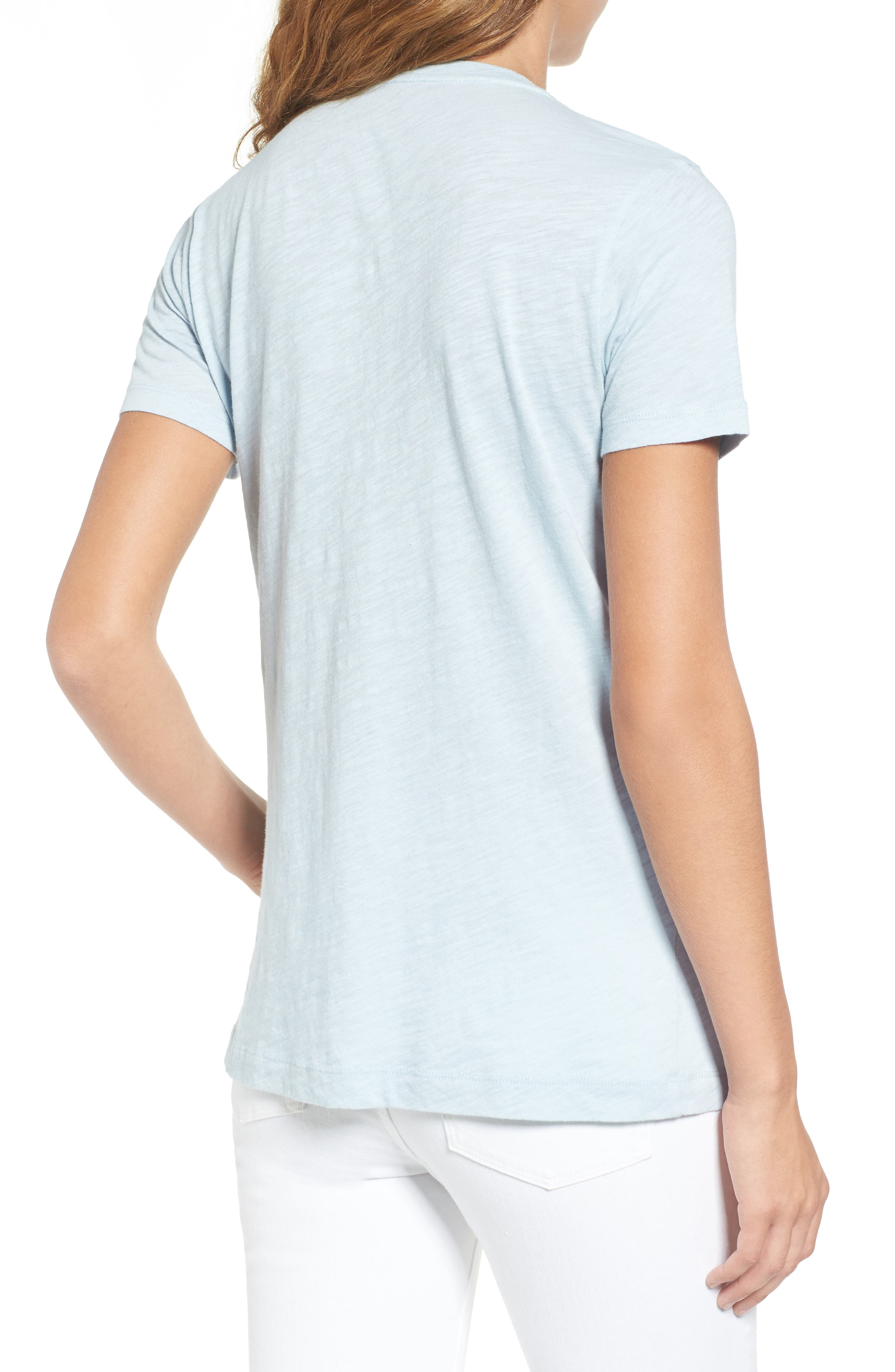 Whisper Cotton V-Neck Pocket Tee,                             Alternate thumbnail 69, color,