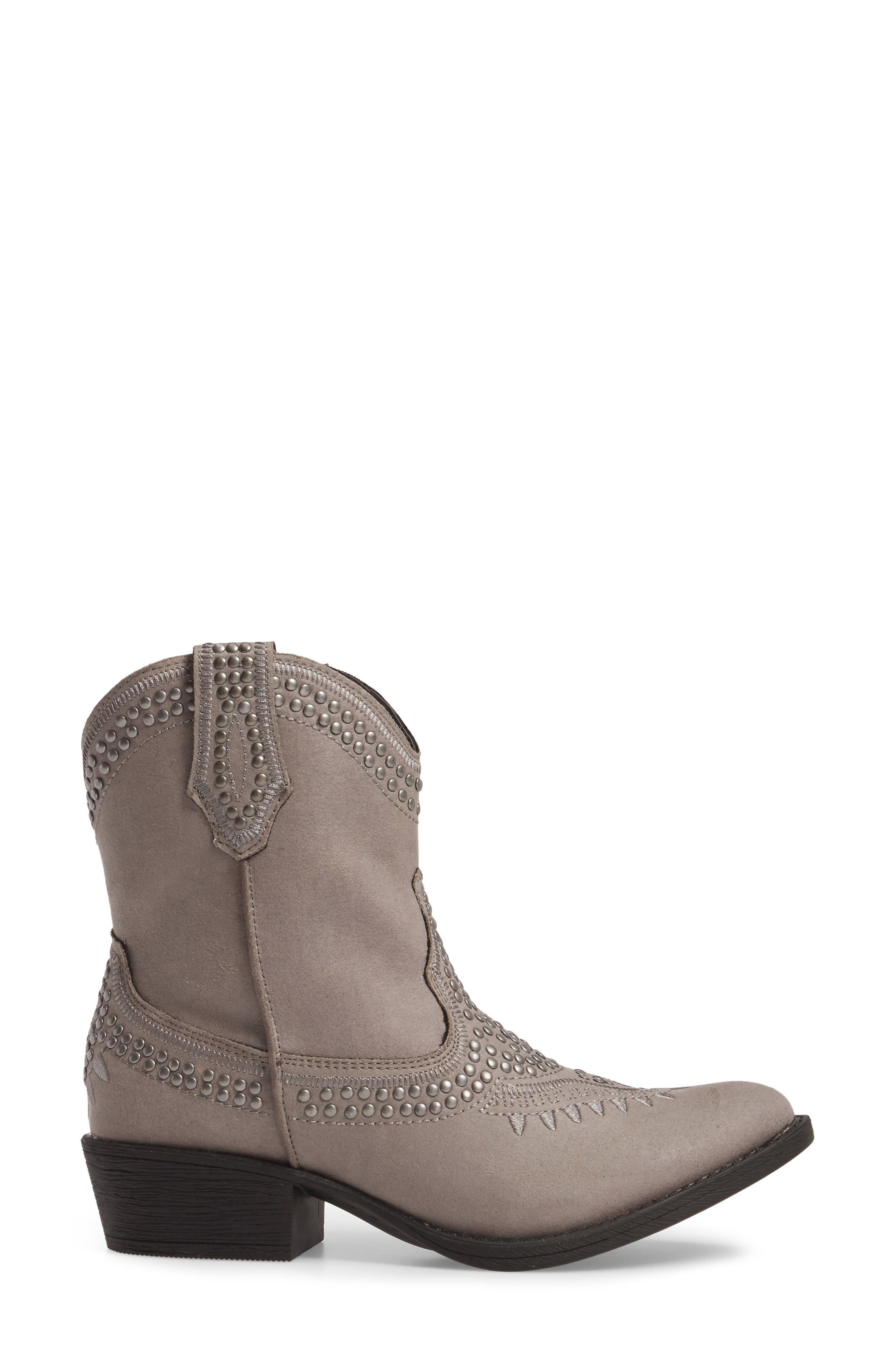 Amour Embellished Western Bootie,                             Alternate thumbnail 3, color,                             023