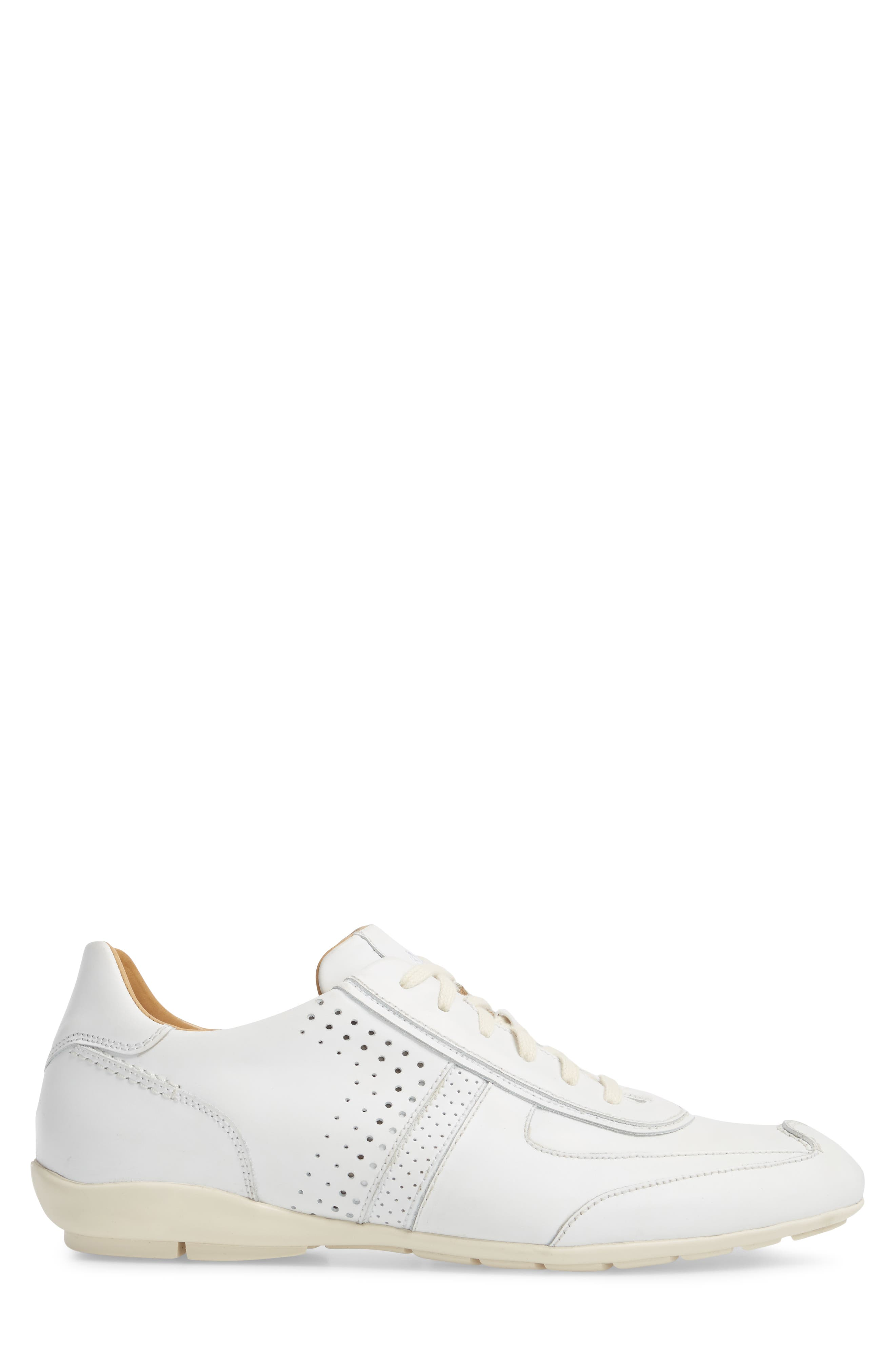 Lozano II Low Top Sneaker,                             Alternate thumbnail 3, color,                             WHITE LEATHER