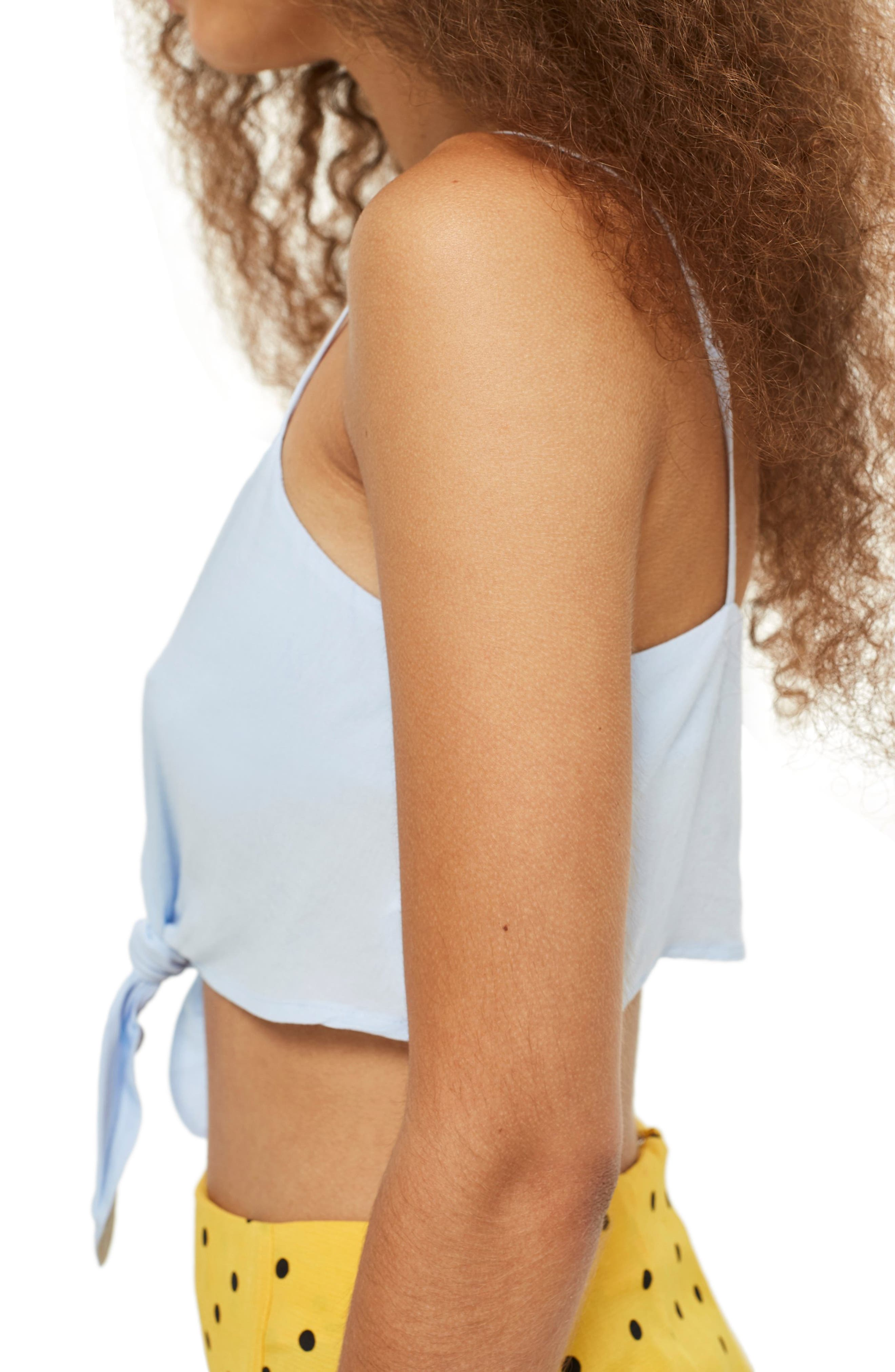 Knot Front Crop Camisole Top,                             Alternate thumbnail 4, color,                             450