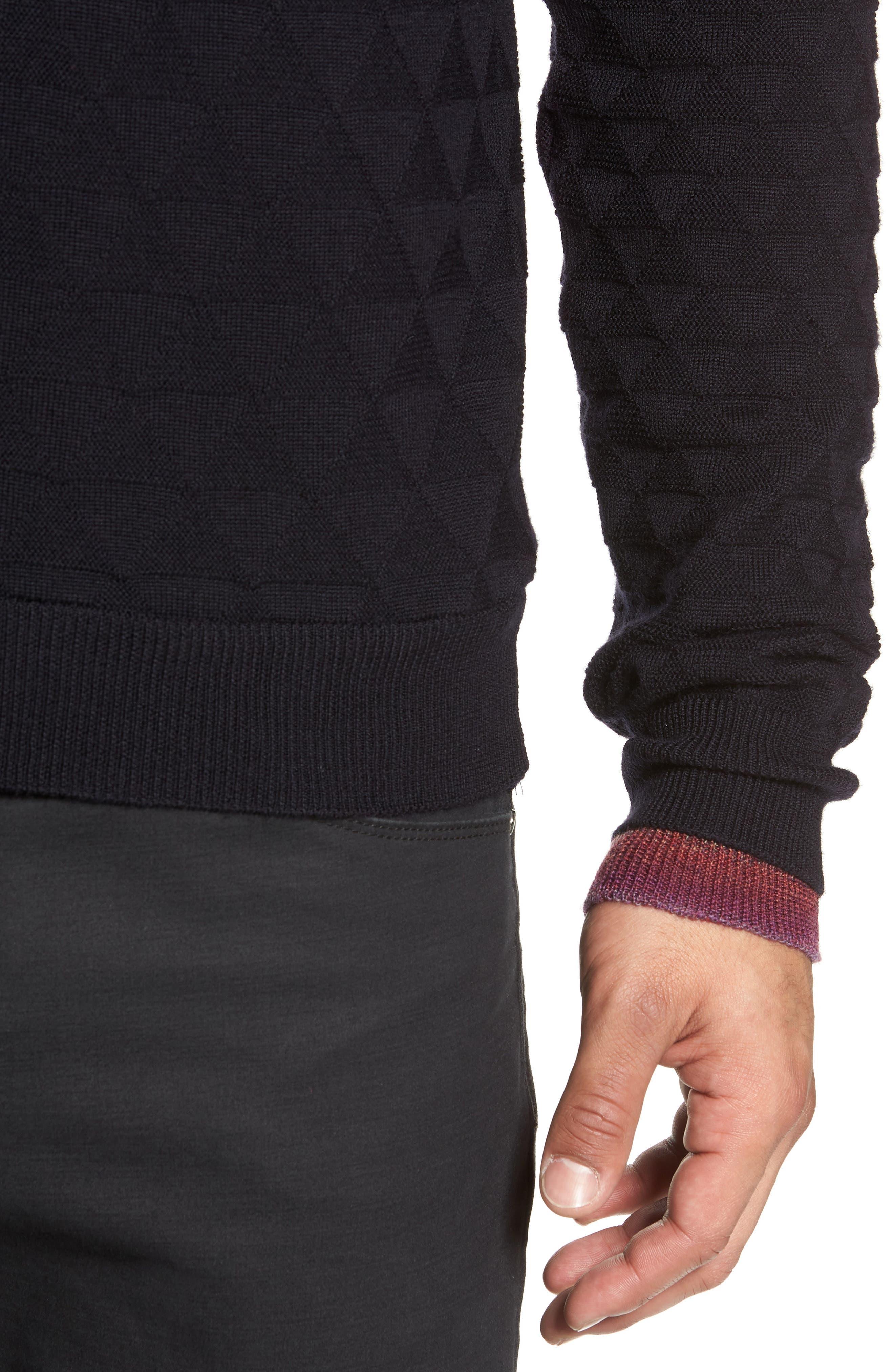 Blackburn Classic Fit Sweater,                             Alternate thumbnail 4, color,                             BLACK