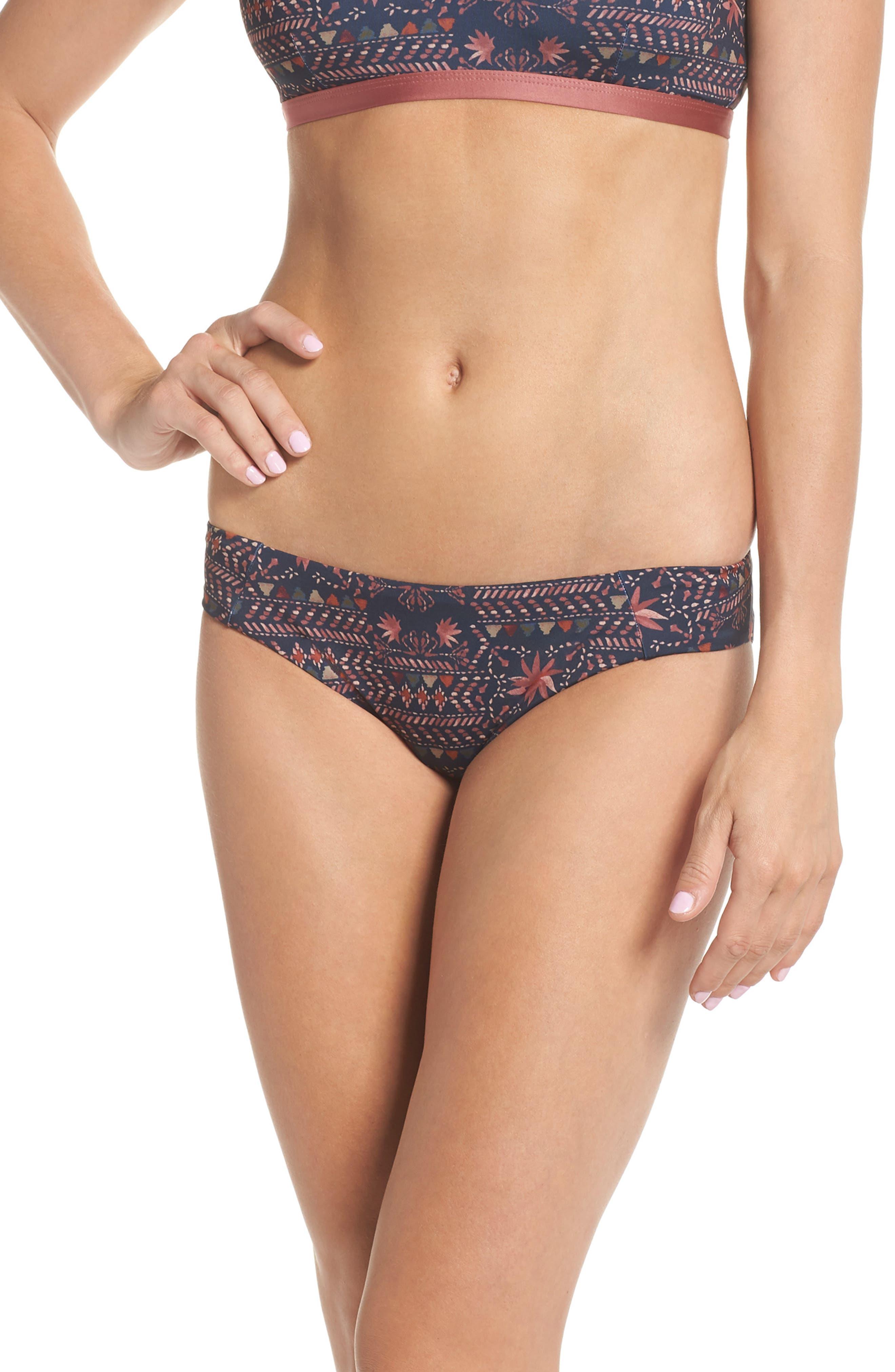 Sunamee Bikini Bottoms,                         Main,                         color, FIRESIDE: NAVY BLUE