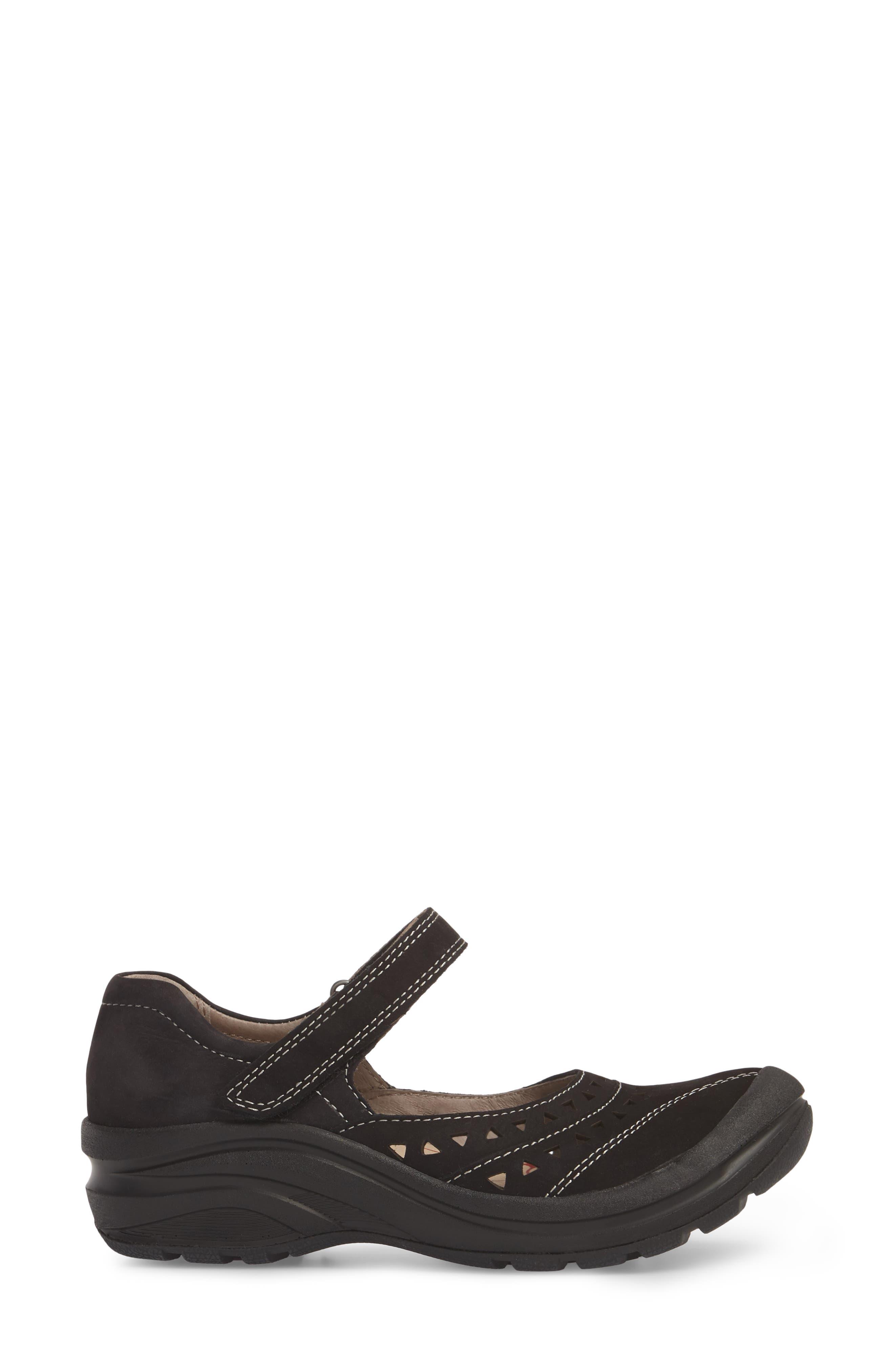 Matia Mary Jane Sneaker,                             Alternate thumbnail 3, color,                             BLACK LEATHER