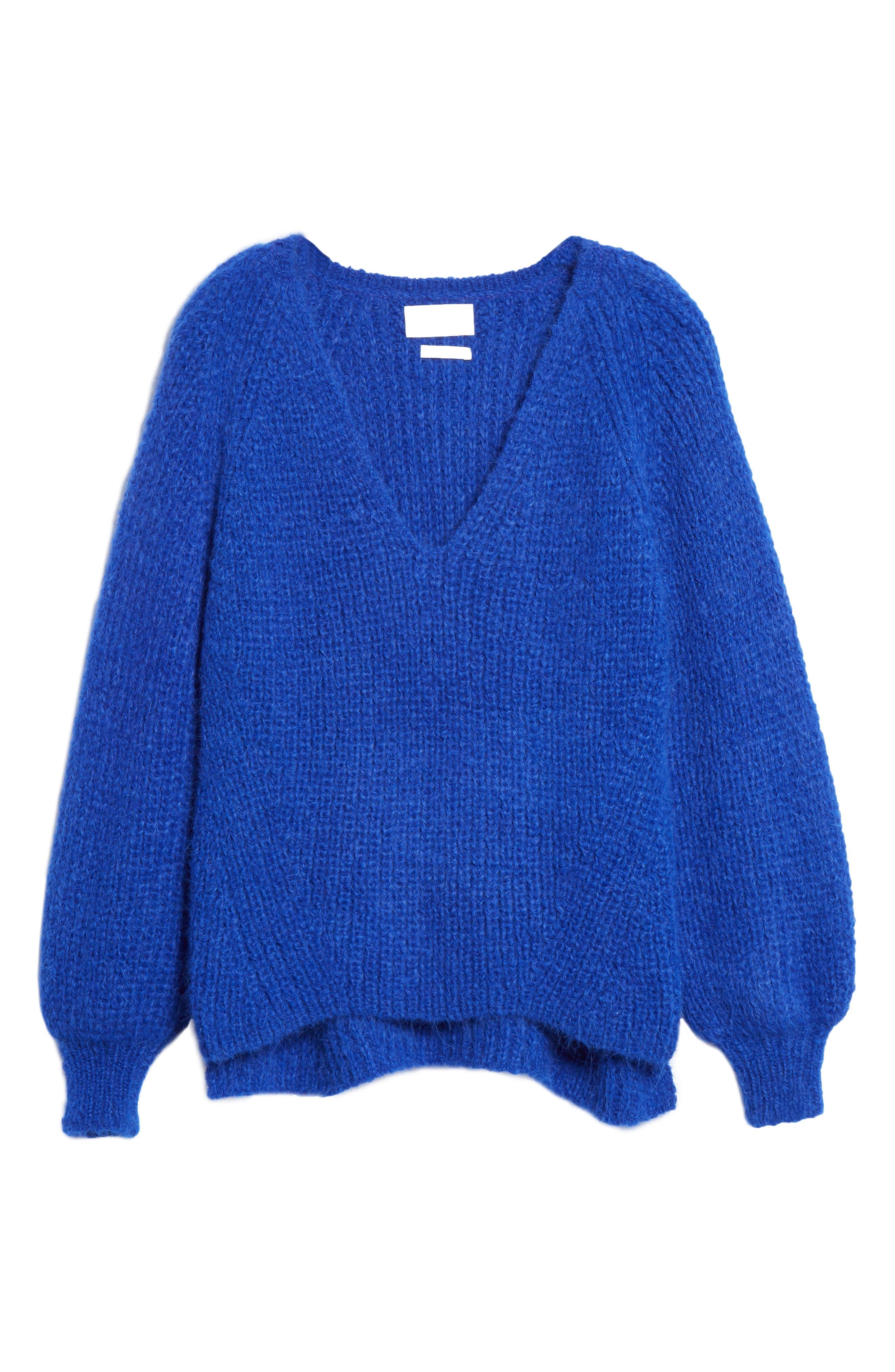 ELEVEN SIX,                             Tess Alpaca & Wool Blend Sweater,                             Alternate thumbnail 6, color,                             COLBOLT BLUE