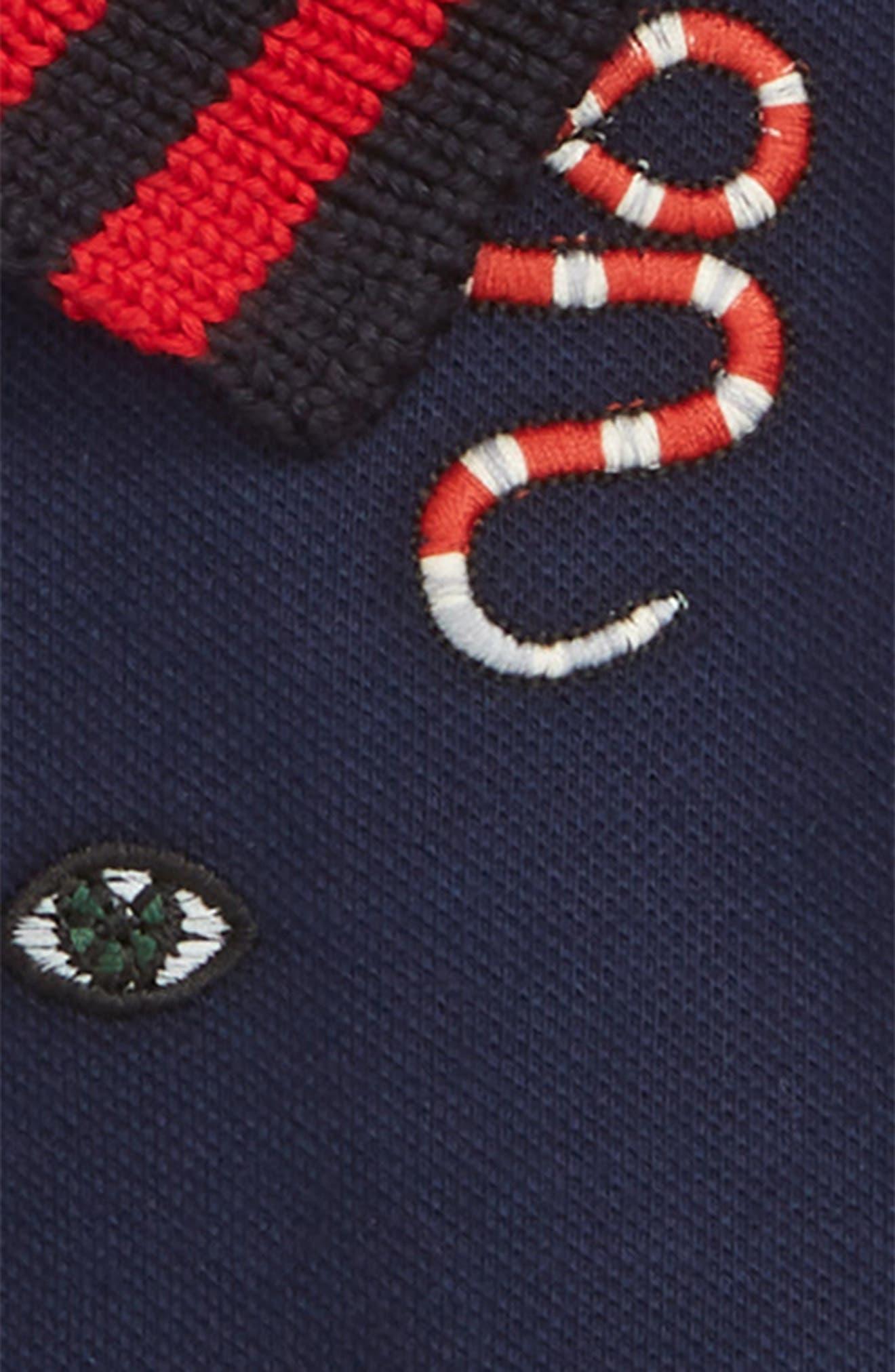Embroidered Cotton Piqué Polo,                             Alternate thumbnail 2, color,                             OLTREMARE/ MULTICO