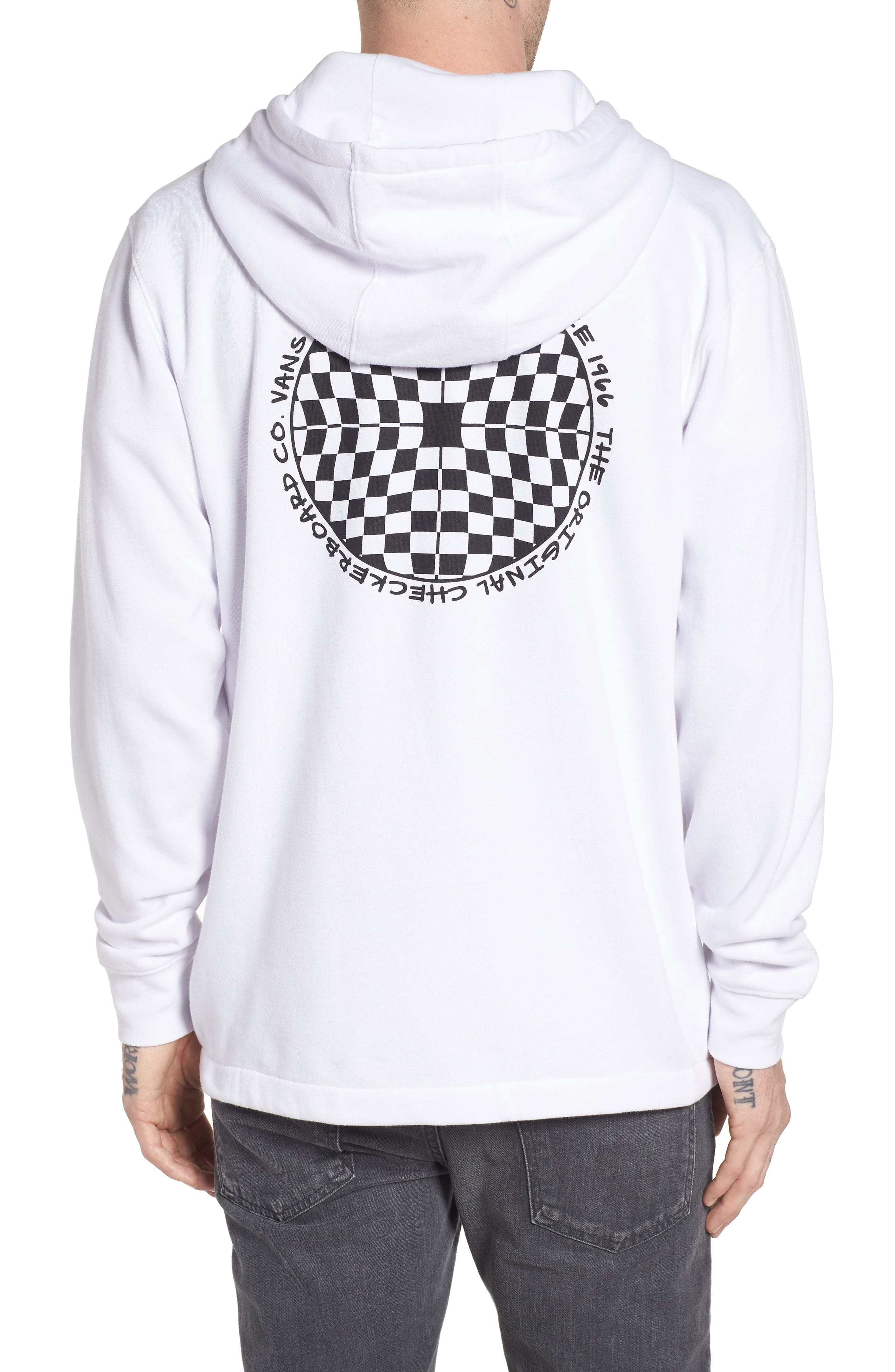 Checkered Quarter Zip Hoodie,                             Alternate thumbnail 2, color,