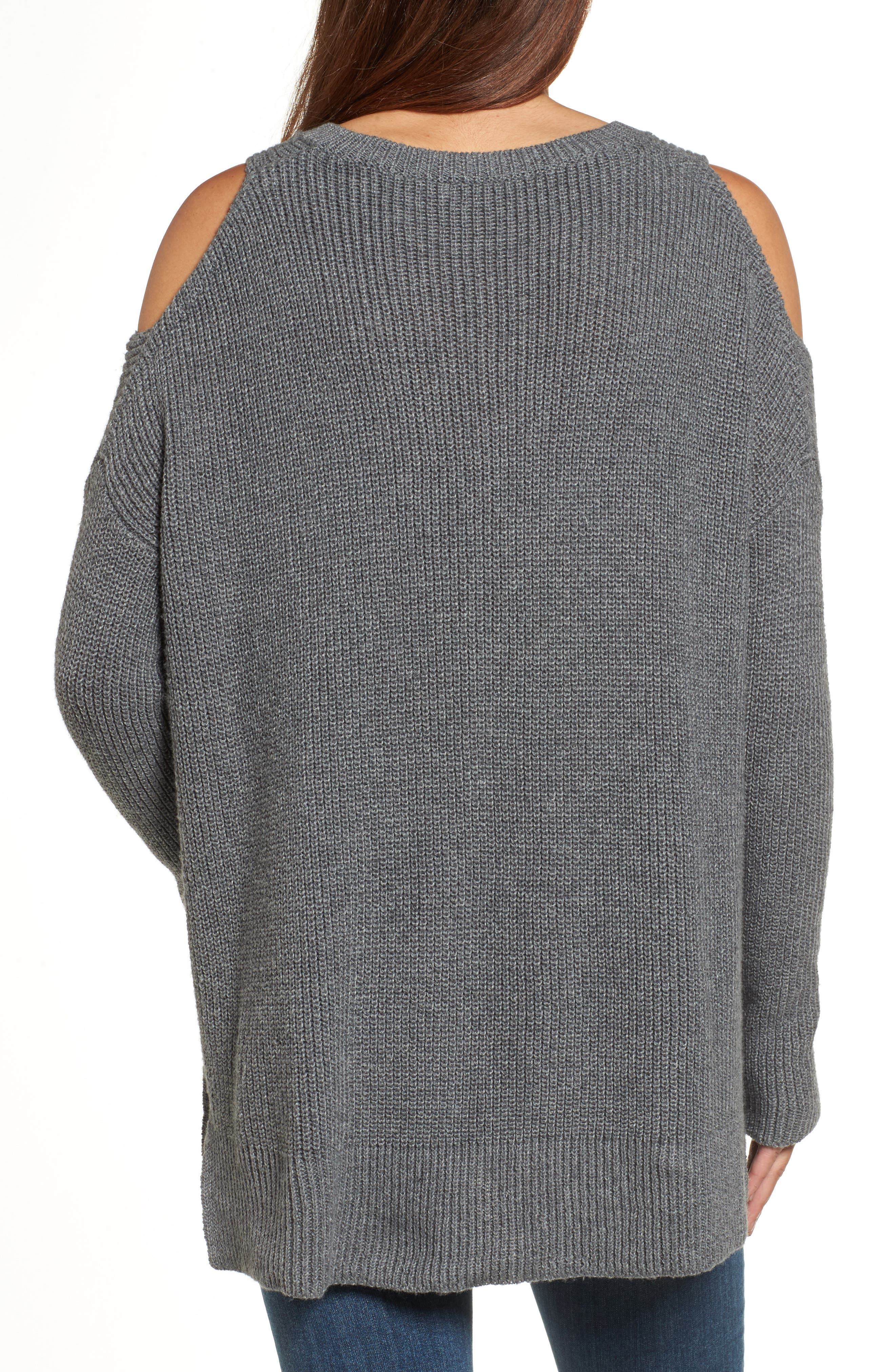 Cold Shoulder Tunic Sweater,                             Alternate thumbnail 2, color,                             020
