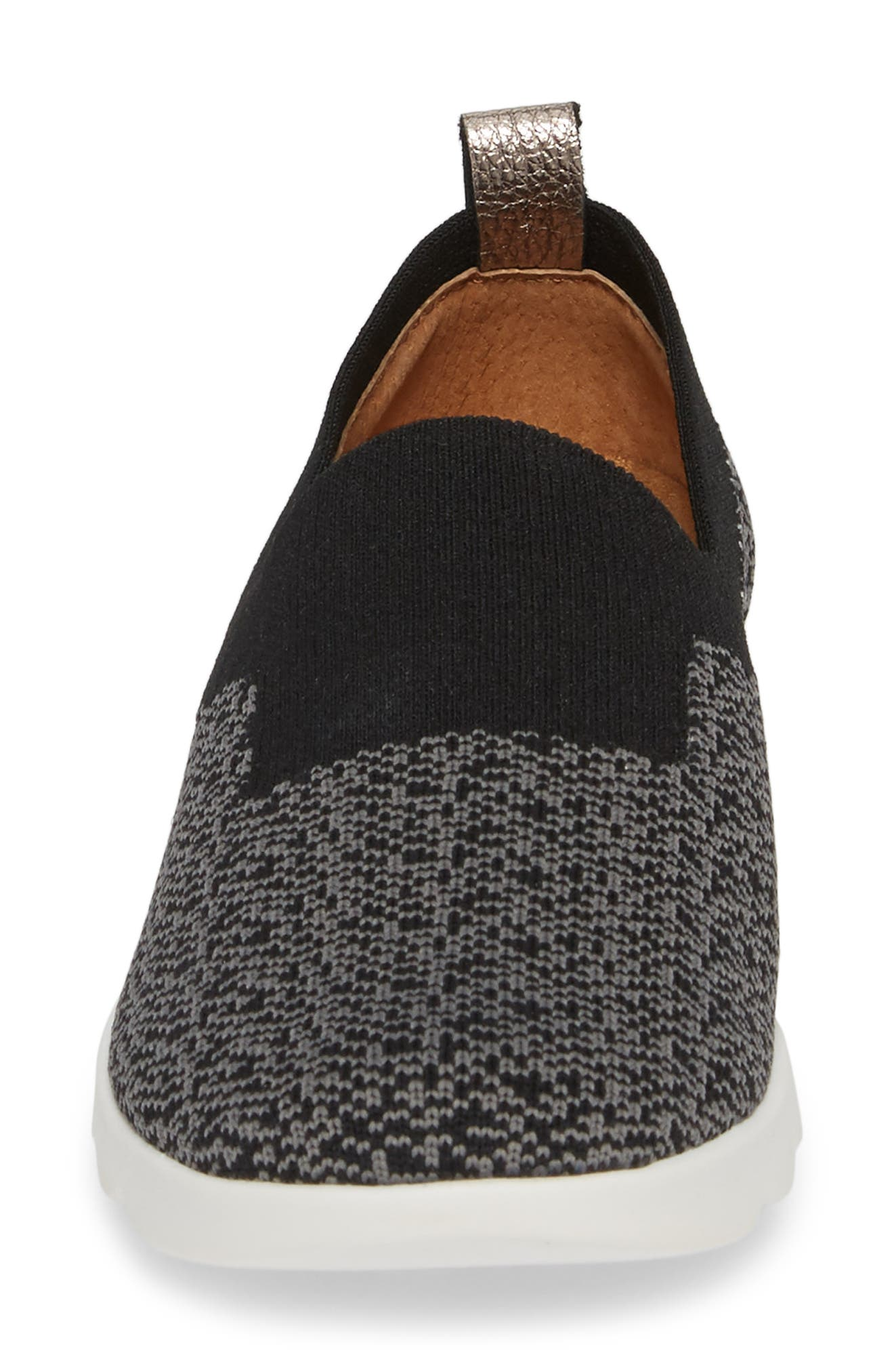 COMFORTIVA,                             Ginger Sock Fit Sneaker,                             Alternate thumbnail 4, color,                             BLACK FABRIC
