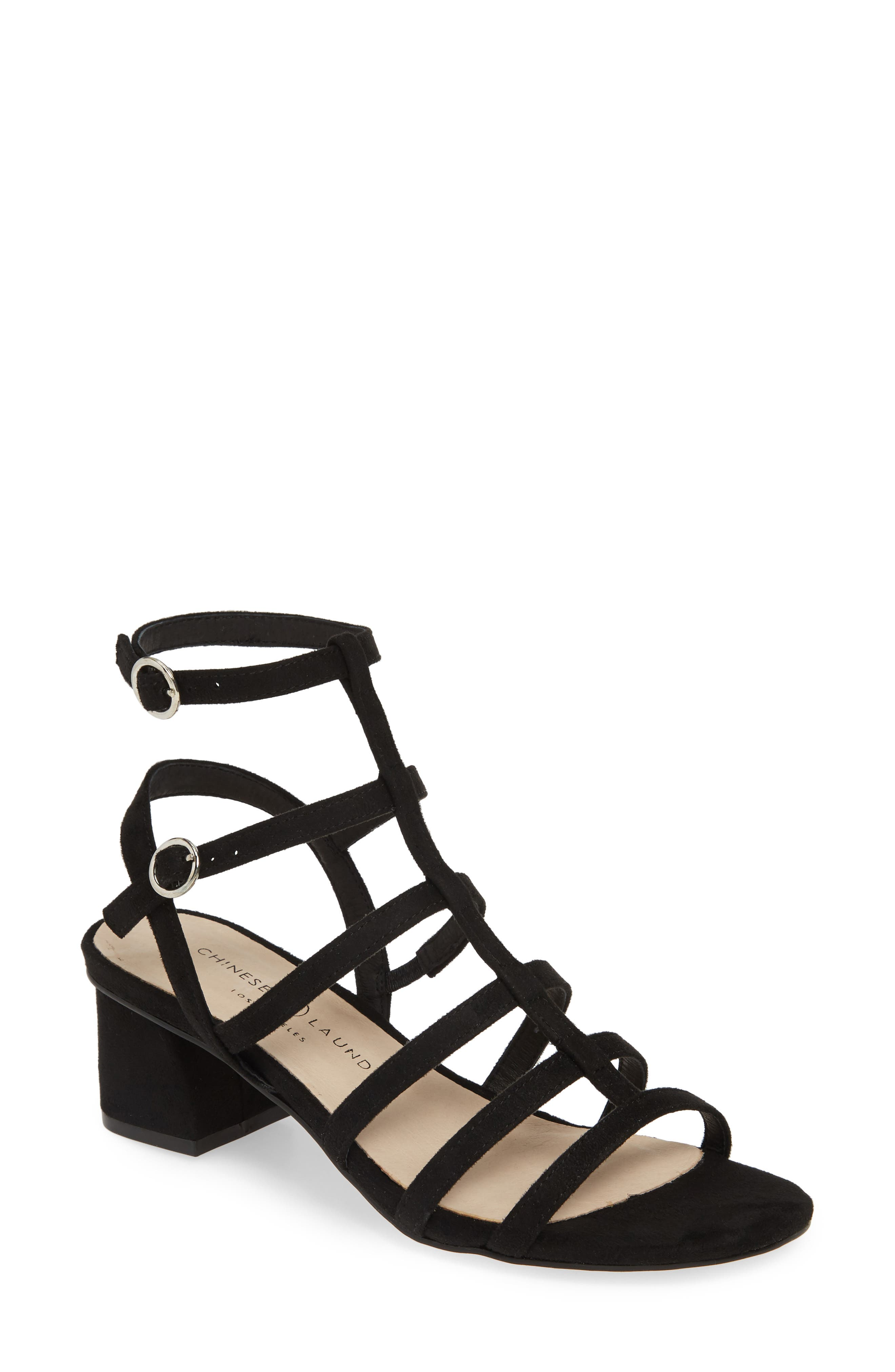 Monroe Strappy Cage Sandal by Chinese Laundry