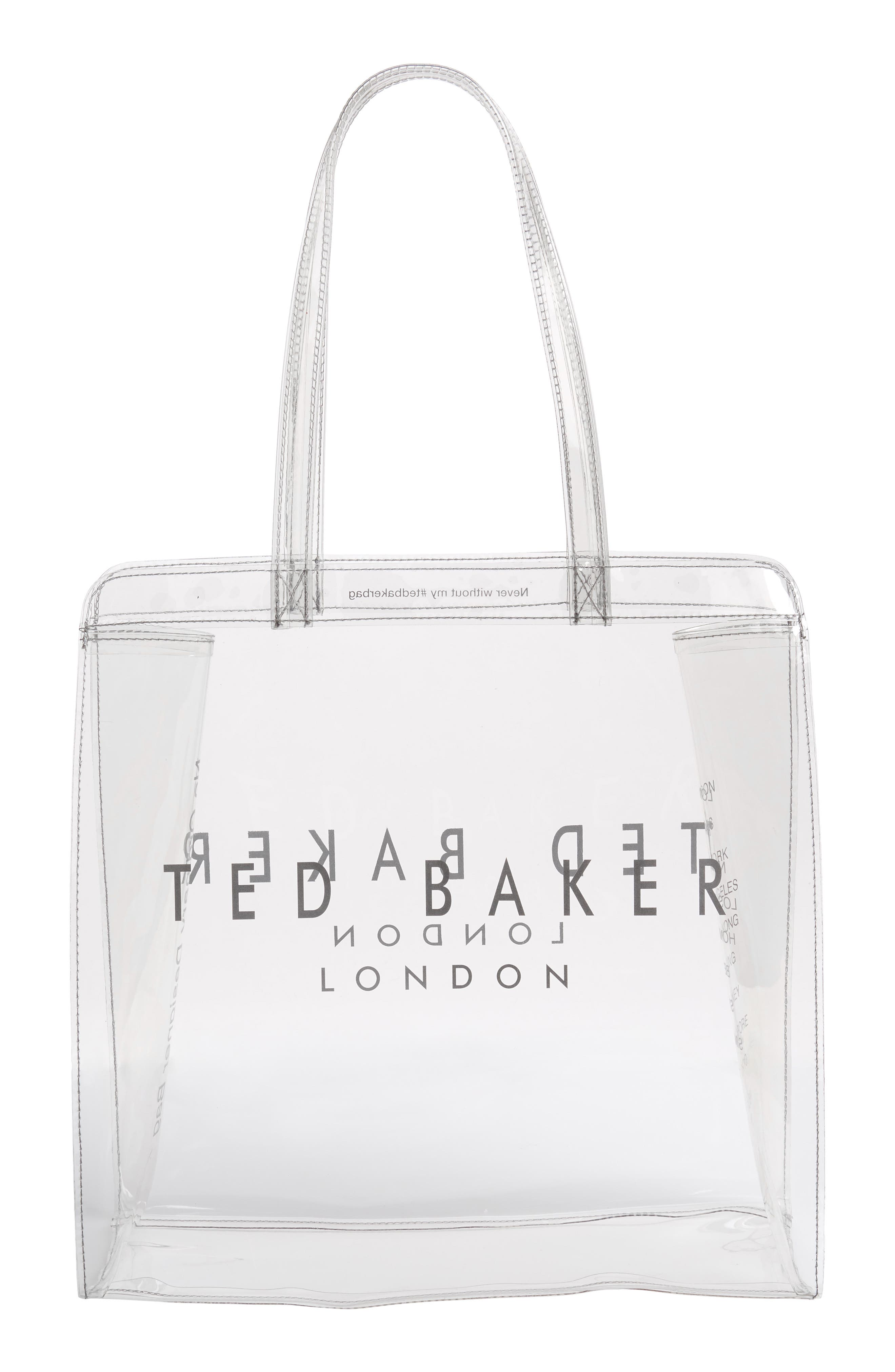 Large Clear Icon Tote,                             Alternate thumbnail 3, color,                             CLEAR