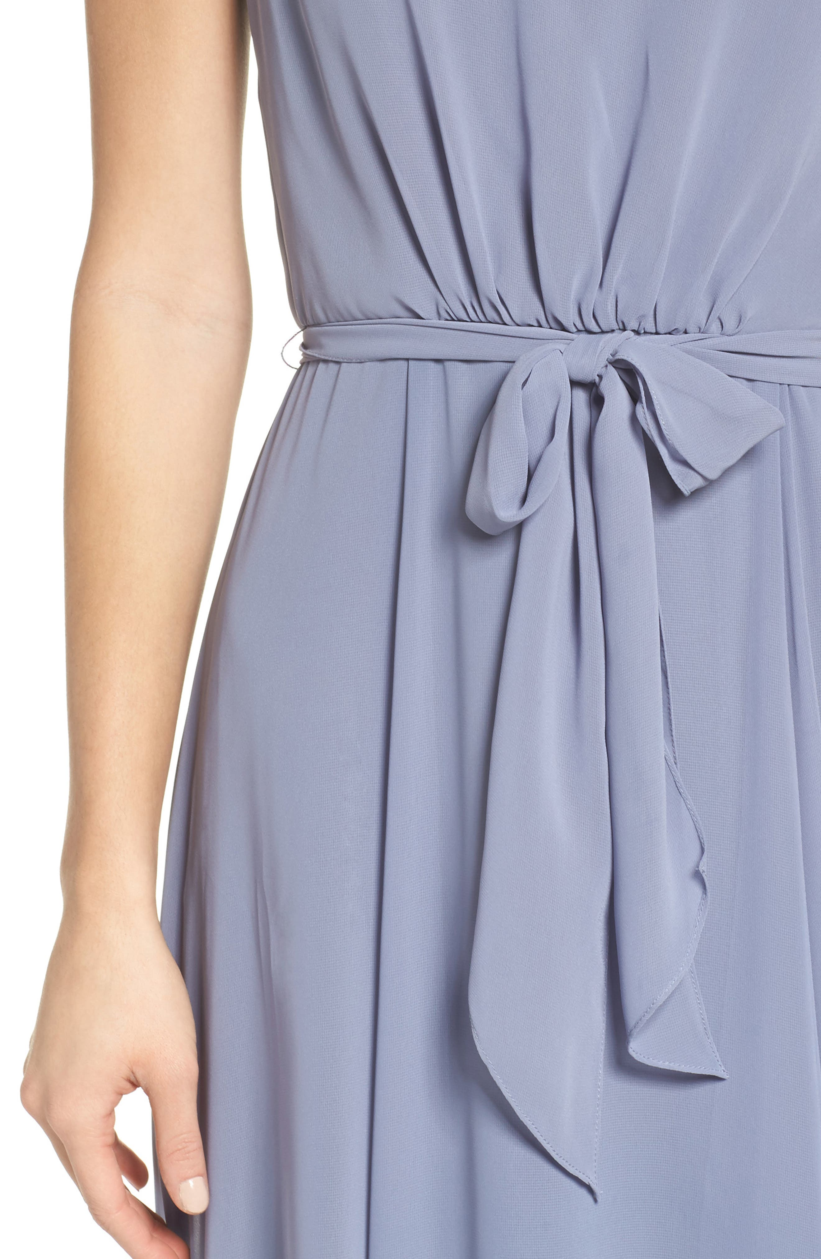 One-Shoulder Chiffon A-Line Gown,                             Alternate thumbnail 4, color,                             020