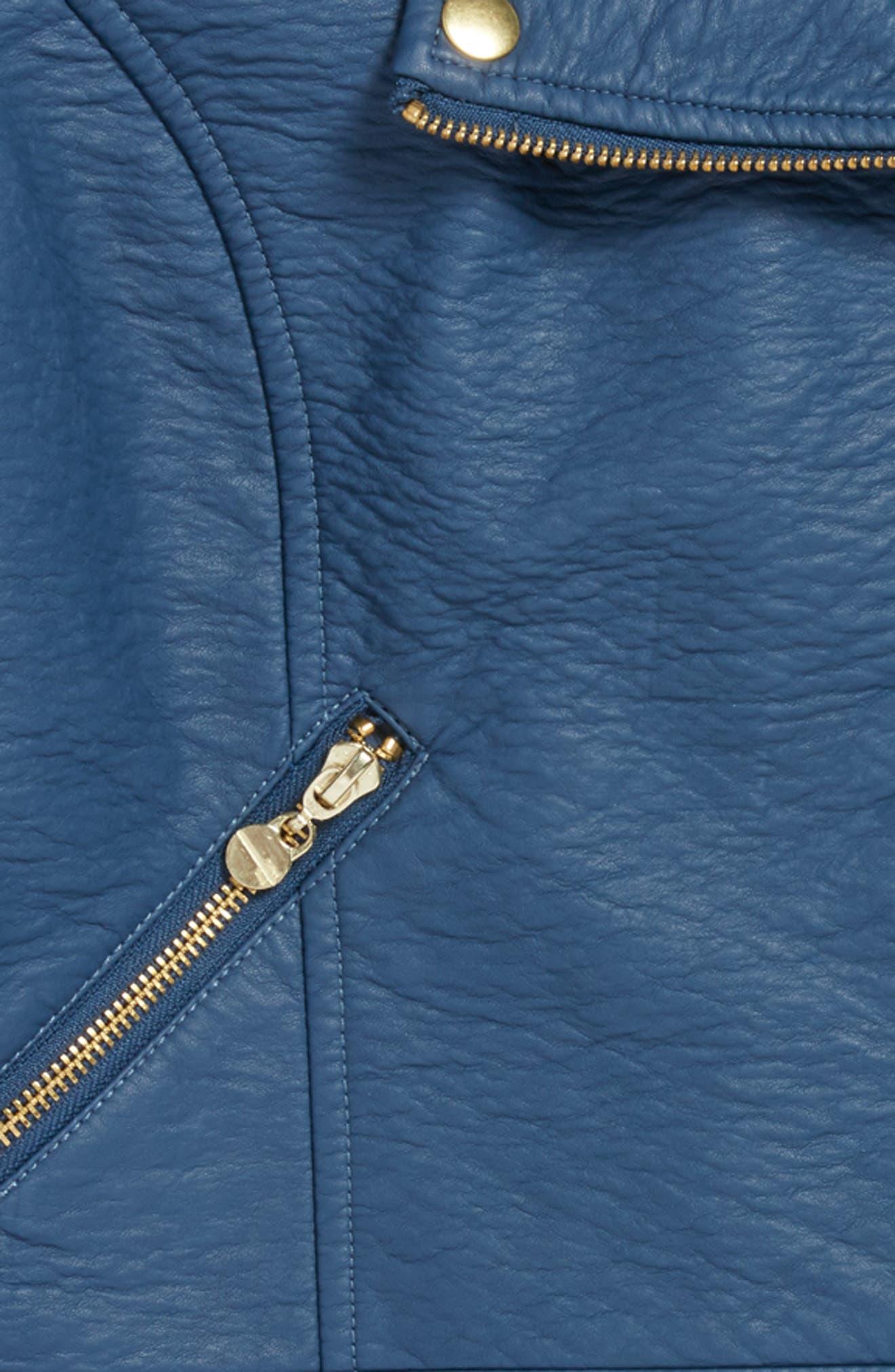 Faux Leather Moto Jacket, Main, color, 460