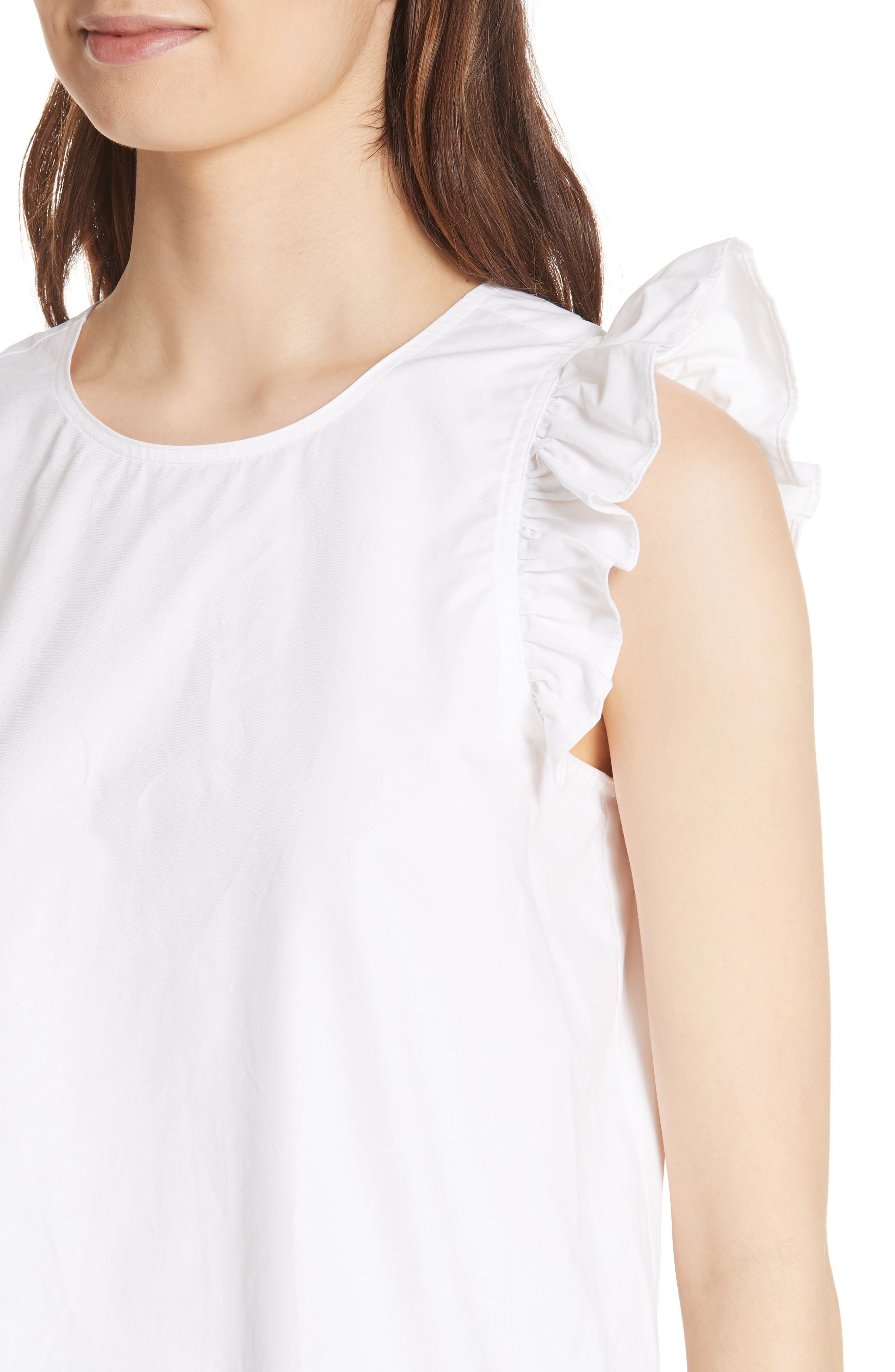 ruffled cotton top,                             Alternate thumbnail 4, color,                             107