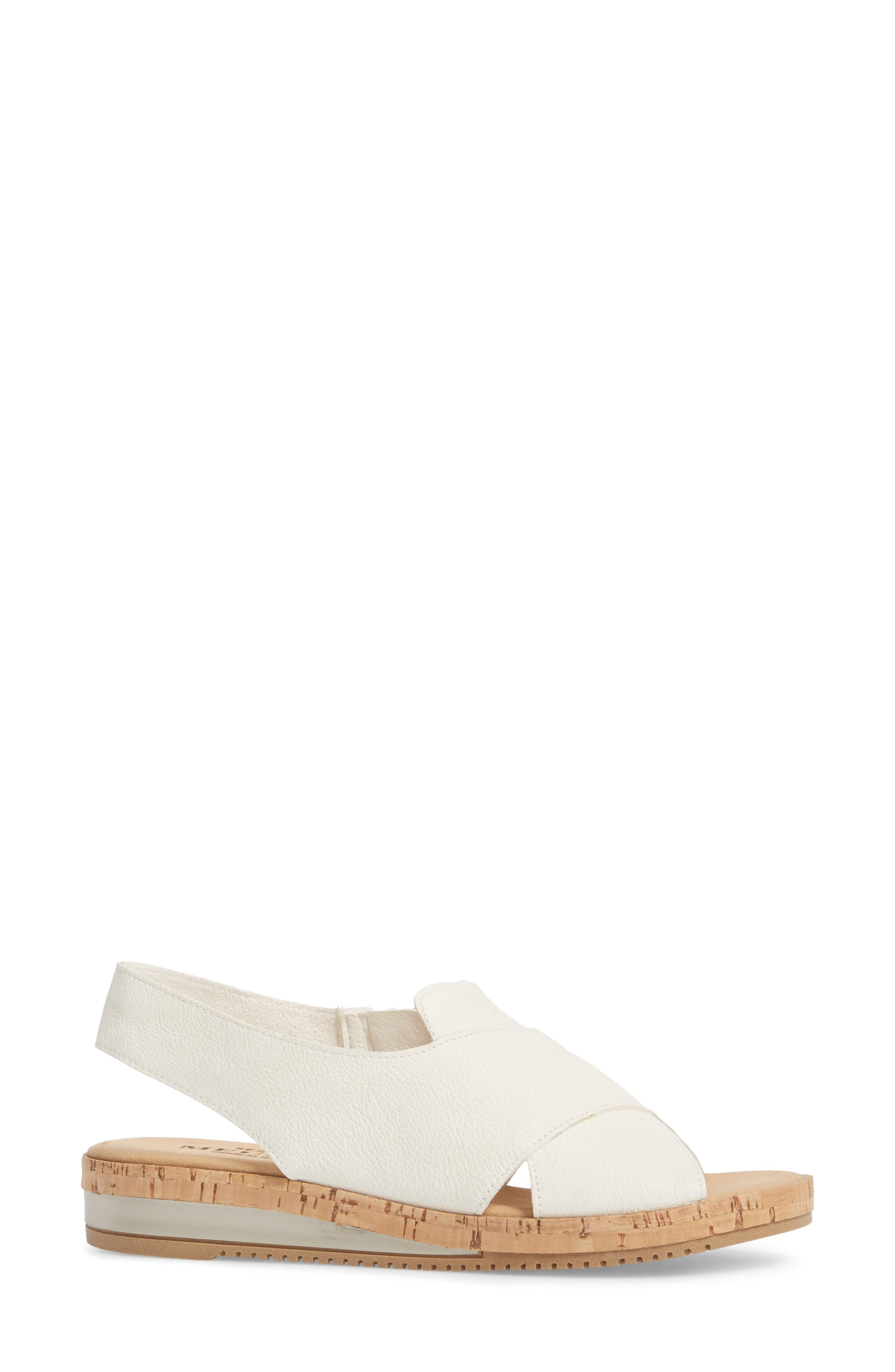 Sylke Sandal,                             Alternate thumbnail 3, color,                             WHITE LEATHER