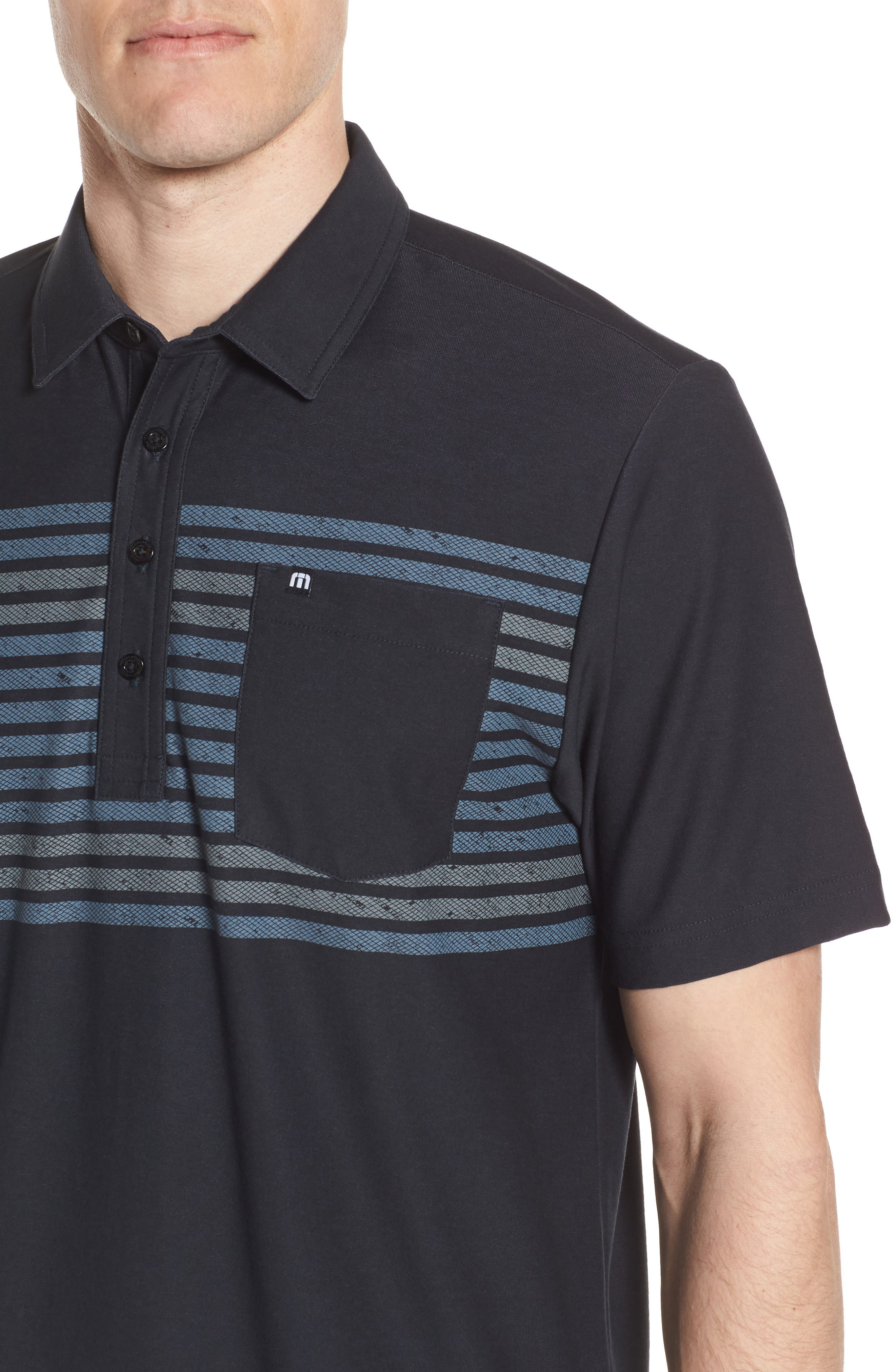 Sweet Lu Regular Fit Polo,                             Alternate thumbnail 4, color,                             BLACK/ GRISAILLE