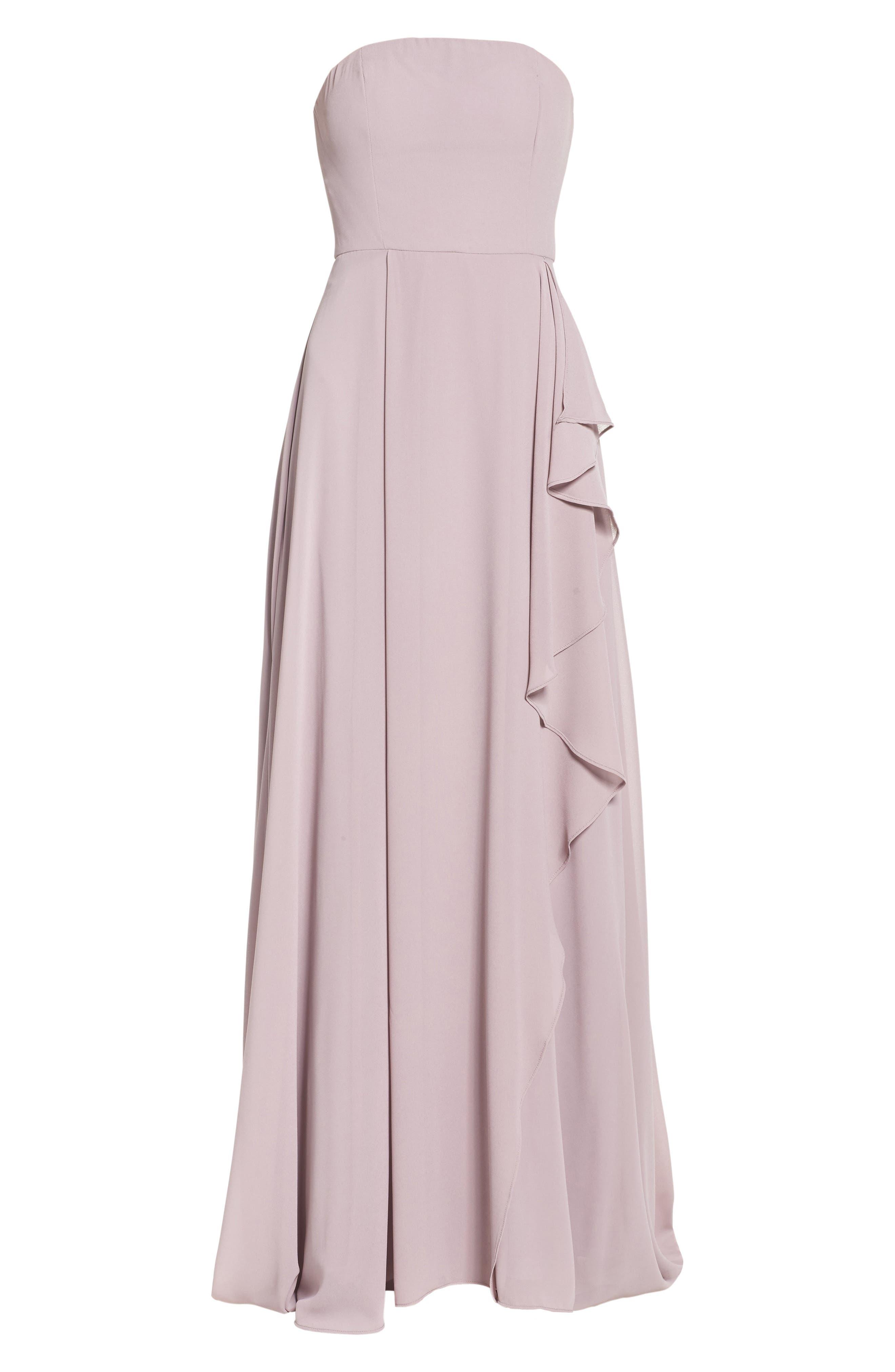 Chiffon Strapless Maxi Dress,                             Alternate thumbnail 6, color,                             020