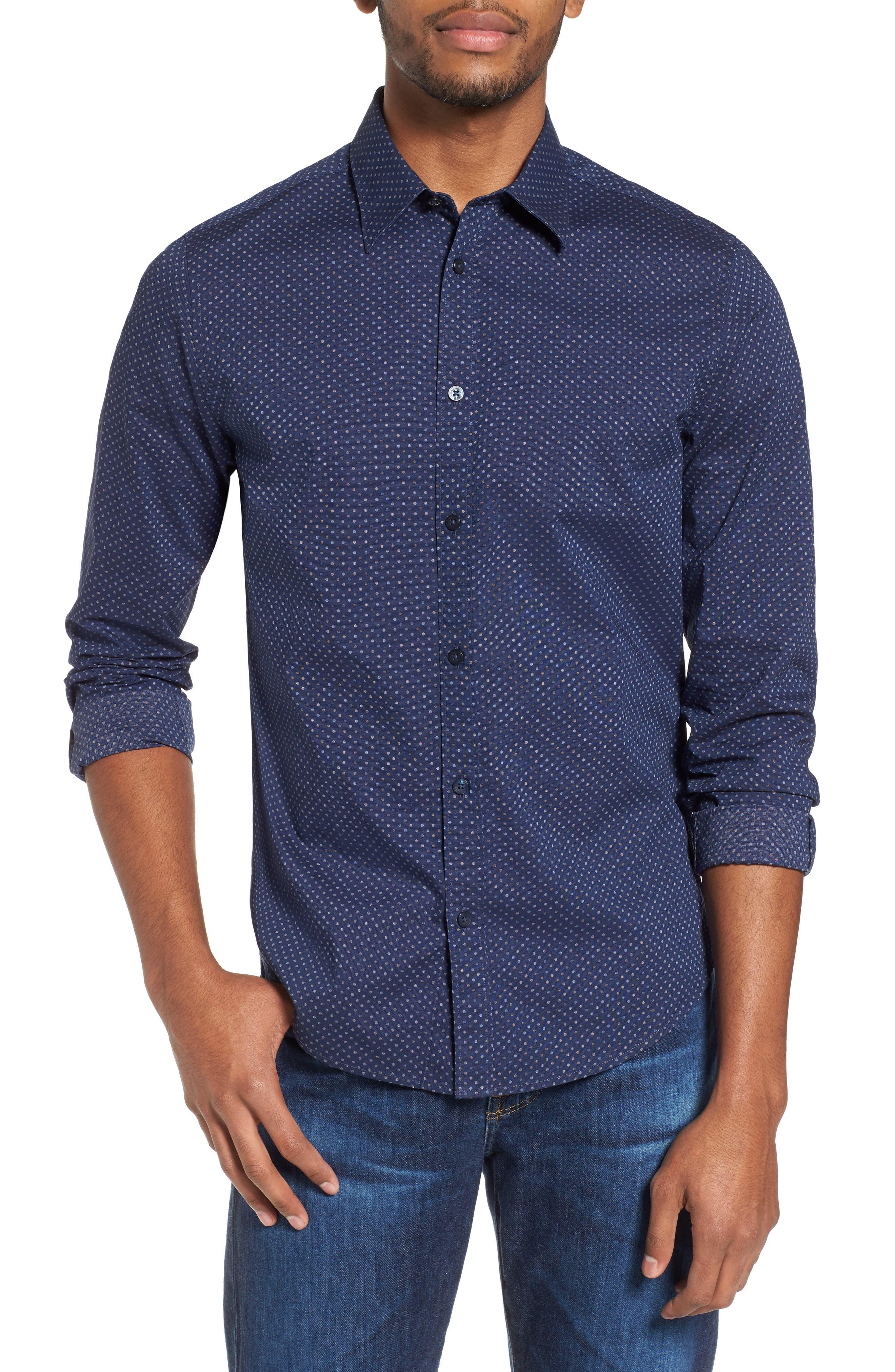 Textured Shirt,                         Main,                         color, 410