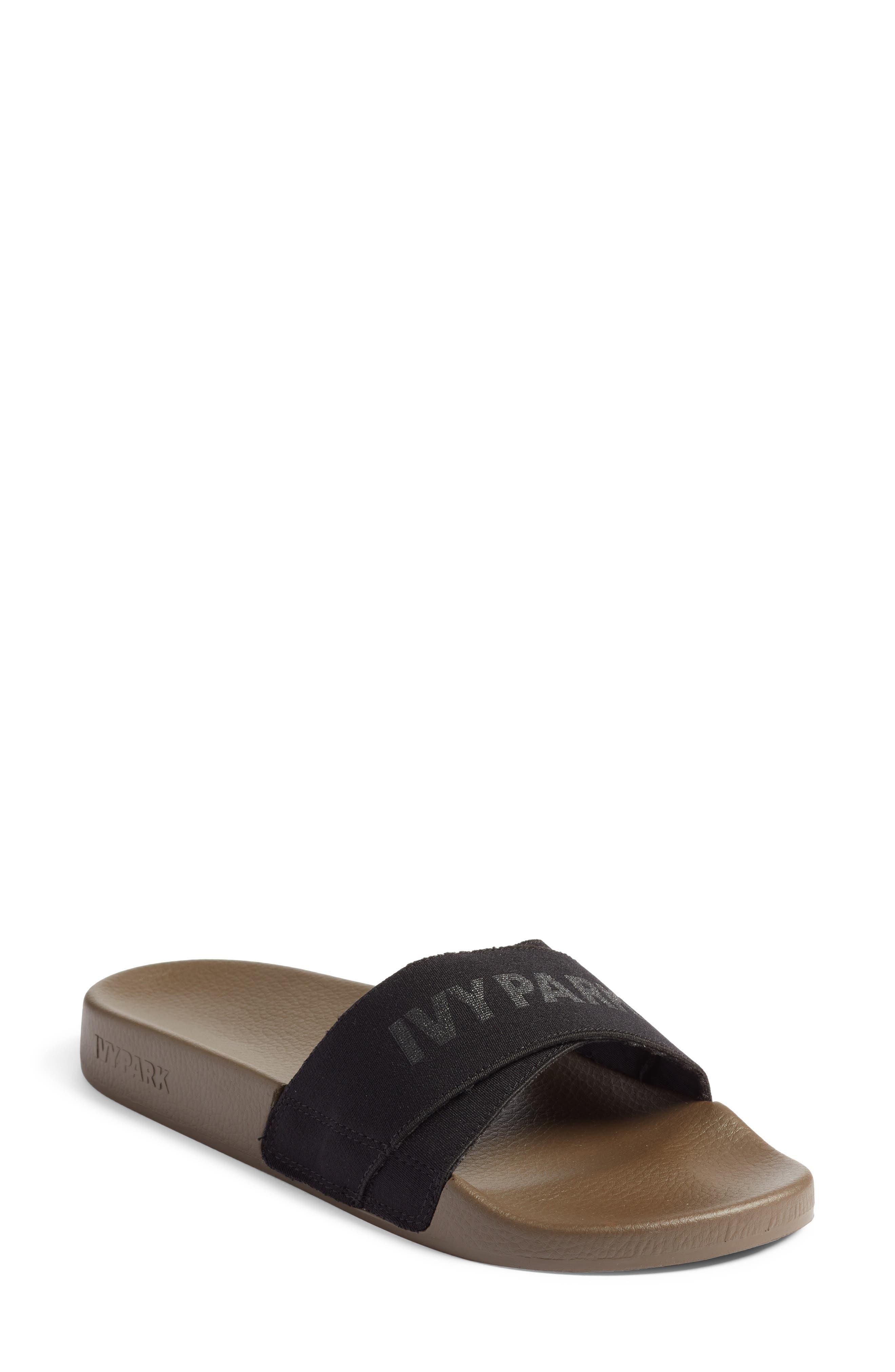 Logo Tape Slide Sandal,                         Main,                         color, CROCODILE