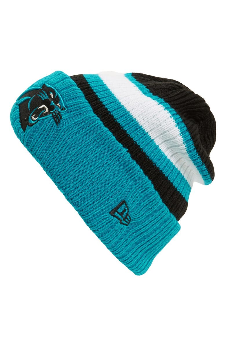 New Era Cap  Rib Start - Carolina Panthers  Knit Hat  95d7cbb72ad