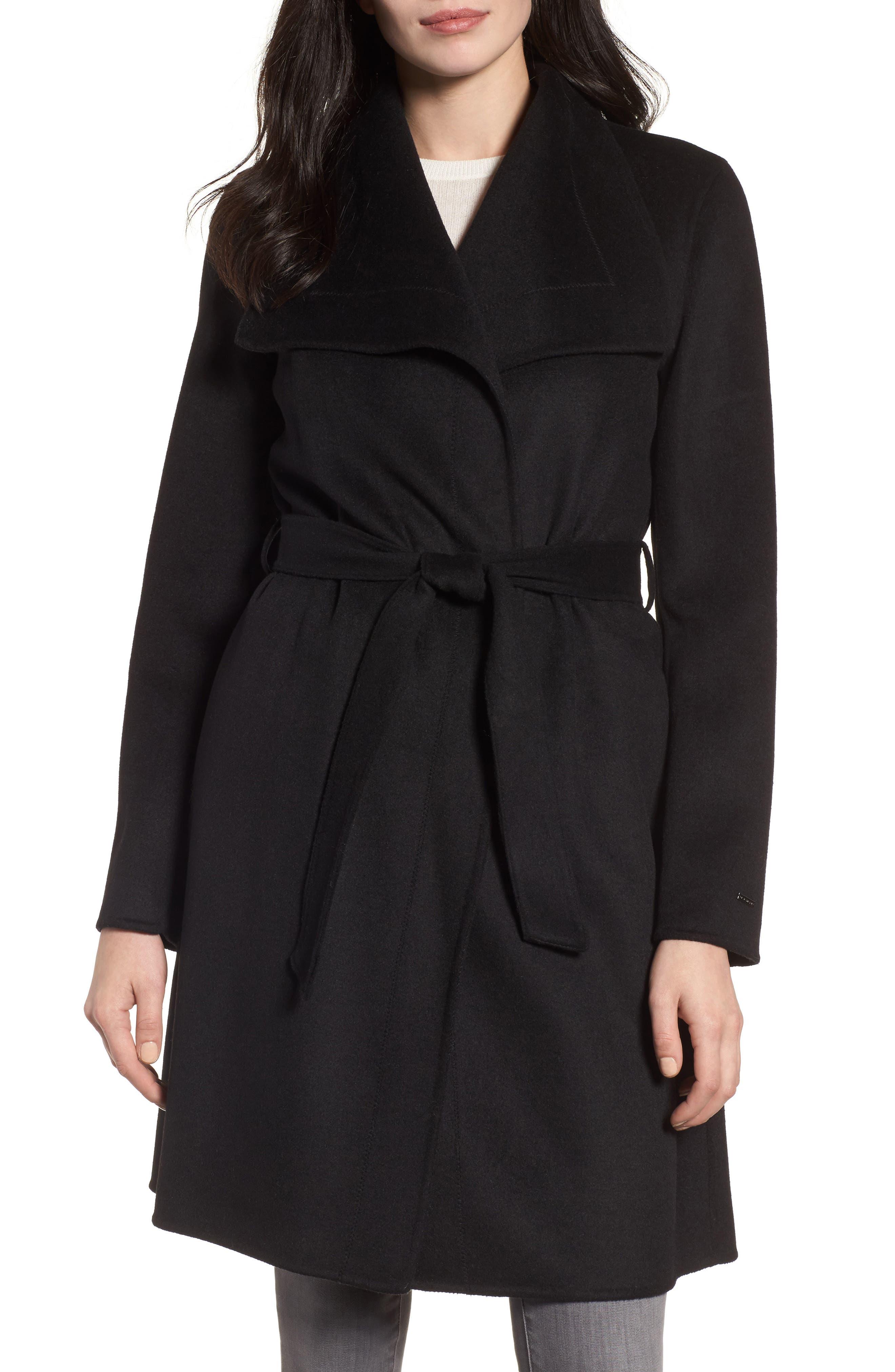 Ellie Double Face Wool Blend Wrap Coat,                         Main,                         color,