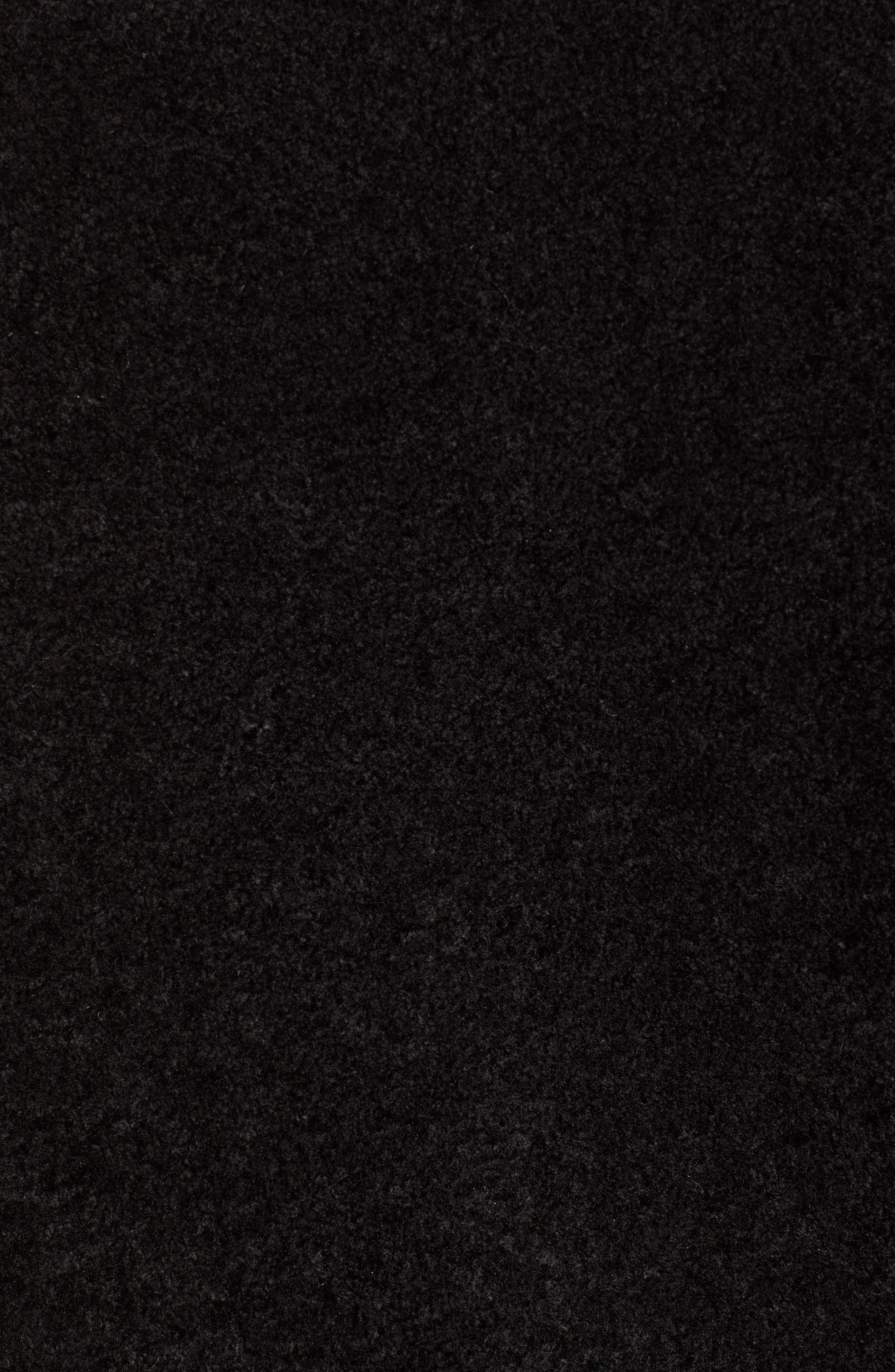 Gray Faux Fur Track Jacket,                             Alternate thumbnail 7, color,                             BLACK CAT