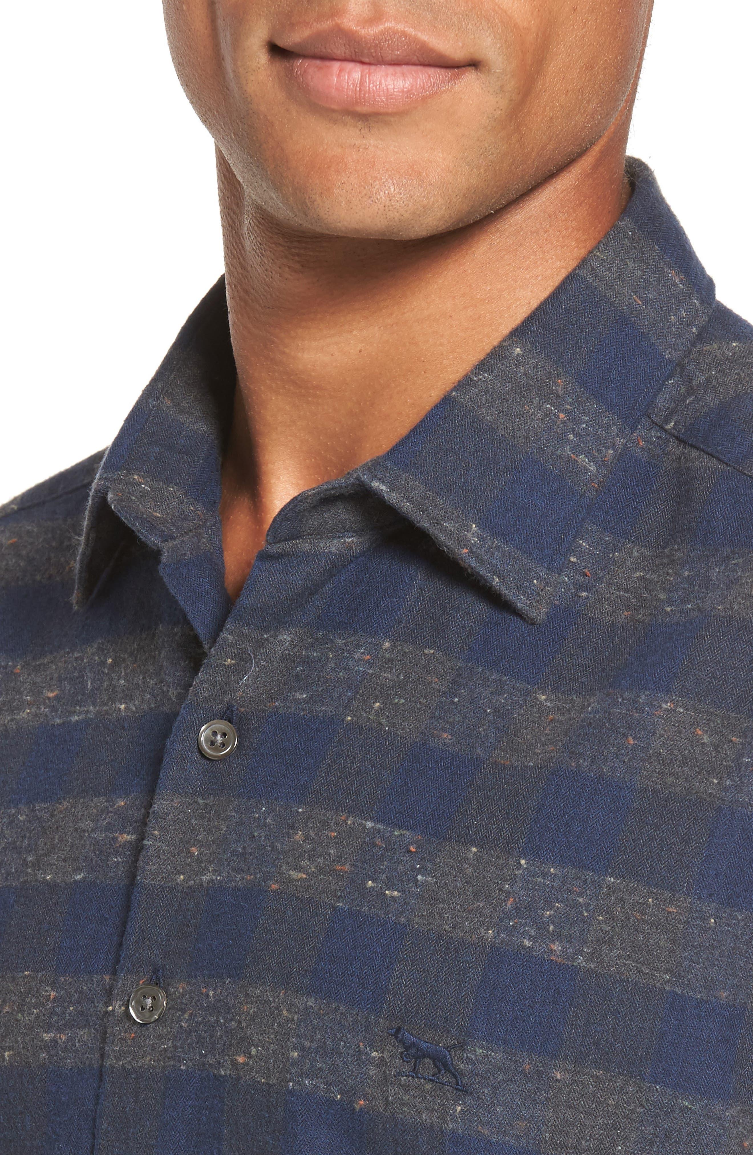 Santa Rosa Sports Fit Check Sport Shirt,                             Alternate thumbnail 4, color,                             023