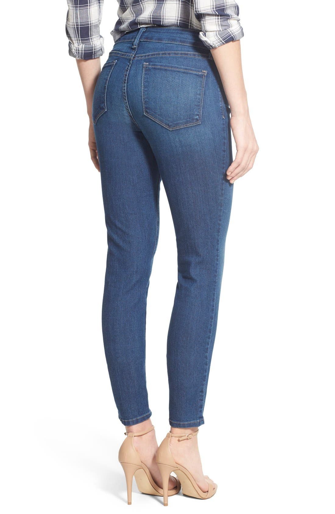 Ami Stretch Skinny Jeans,                             Alternate thumbnail 3, color,                             423