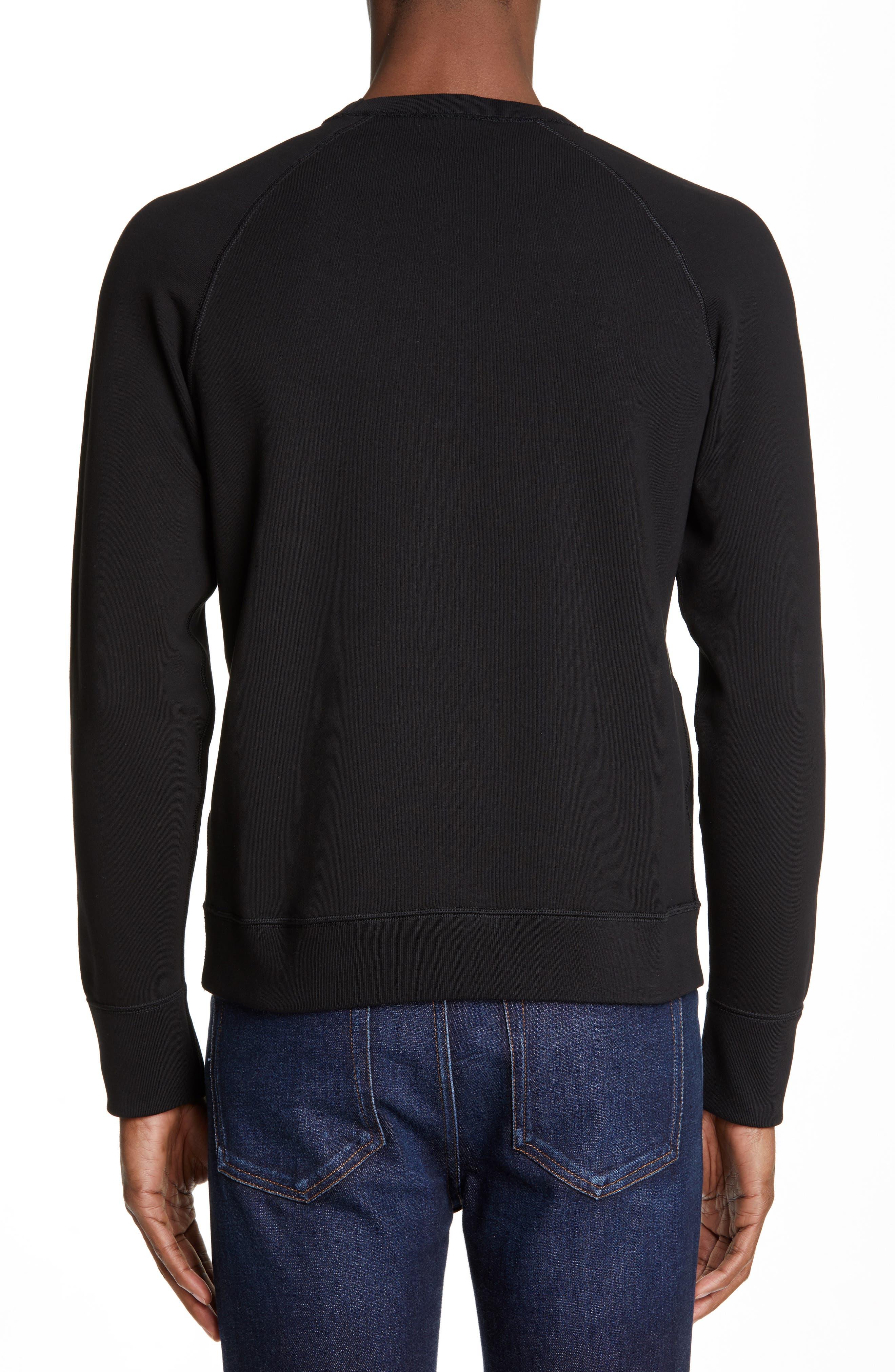 Maglia Sweatshirt,                             Alternate thumbnail 2, color,                             BLACK