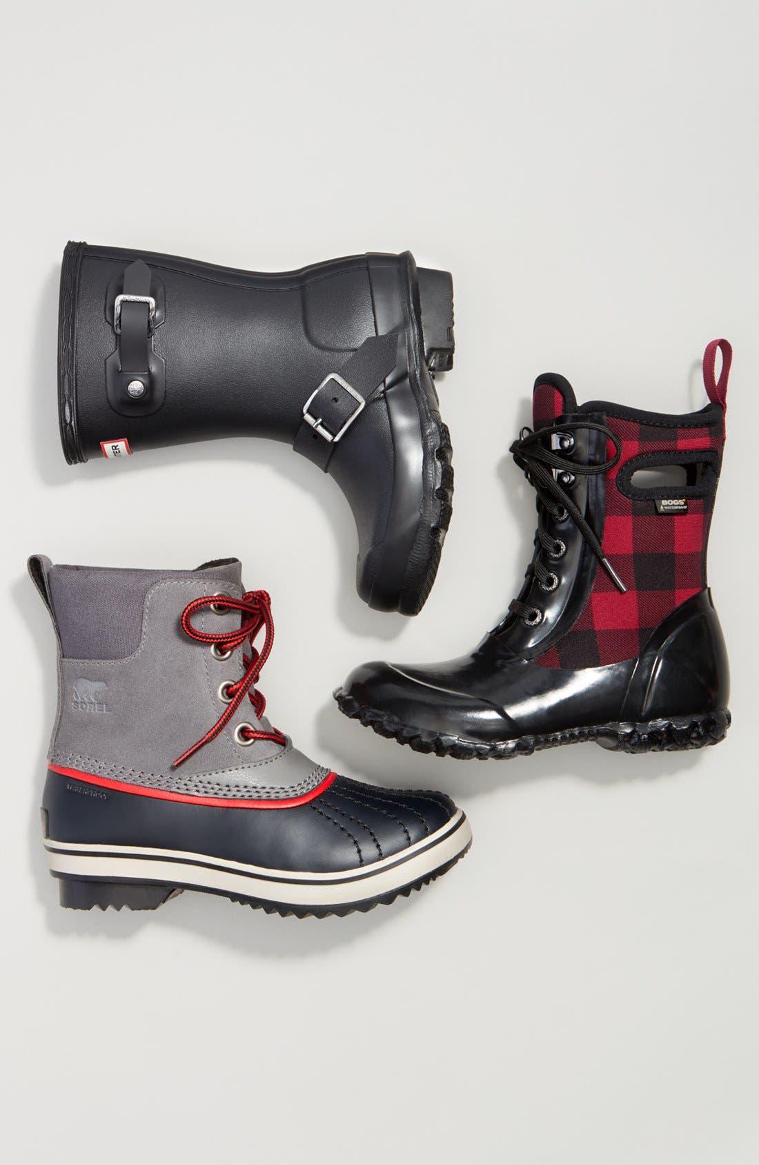 'Original Biker' Waterproof Rain Boot,                             Alternate thumbnail 5, color,                             001